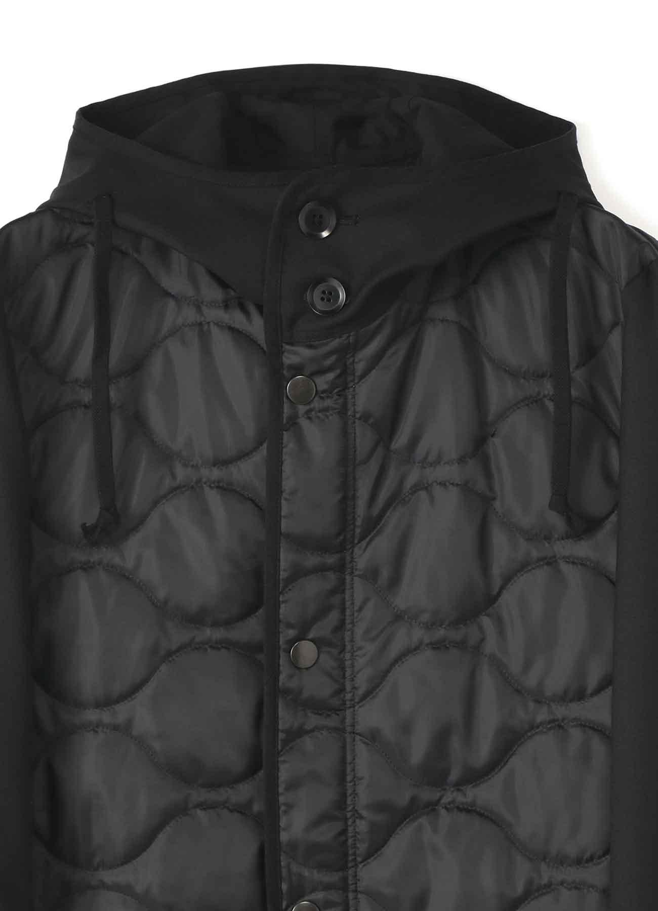 T/W Gabardine Quilted Hood Coat