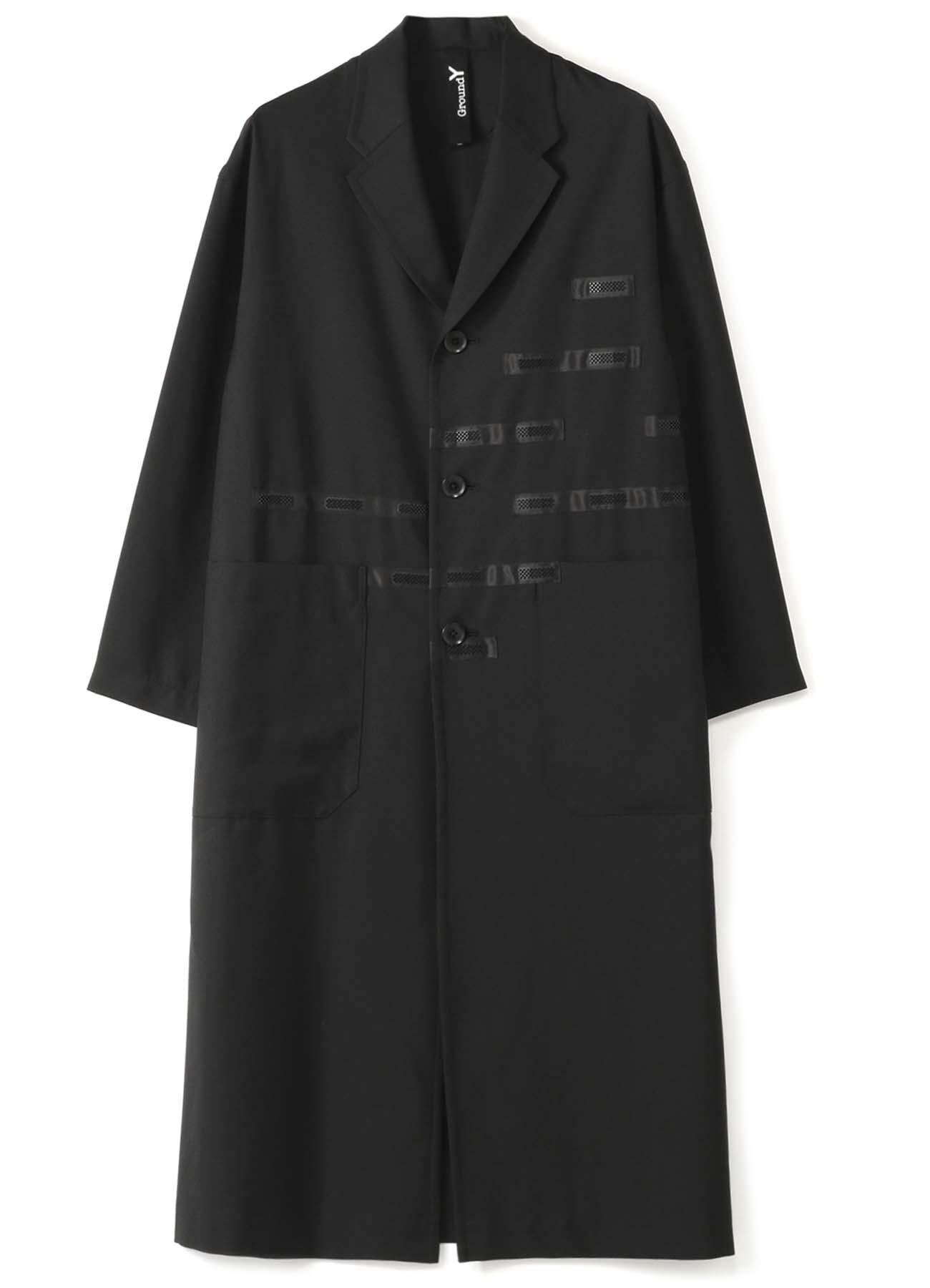 T/W Gabardine Back Tape Long Shirt Jacket