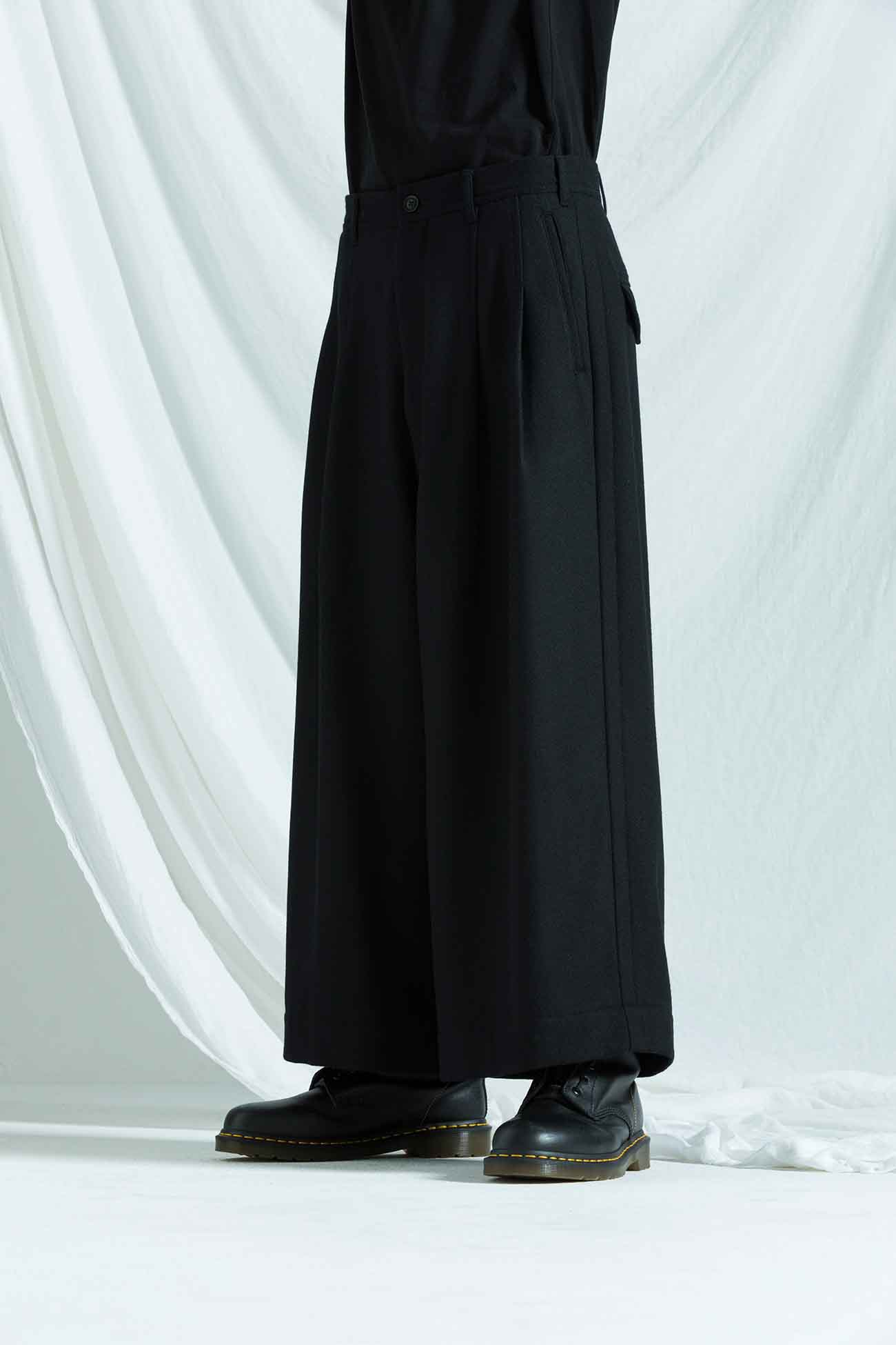 Twill Flannel Two Tack Wide Pants