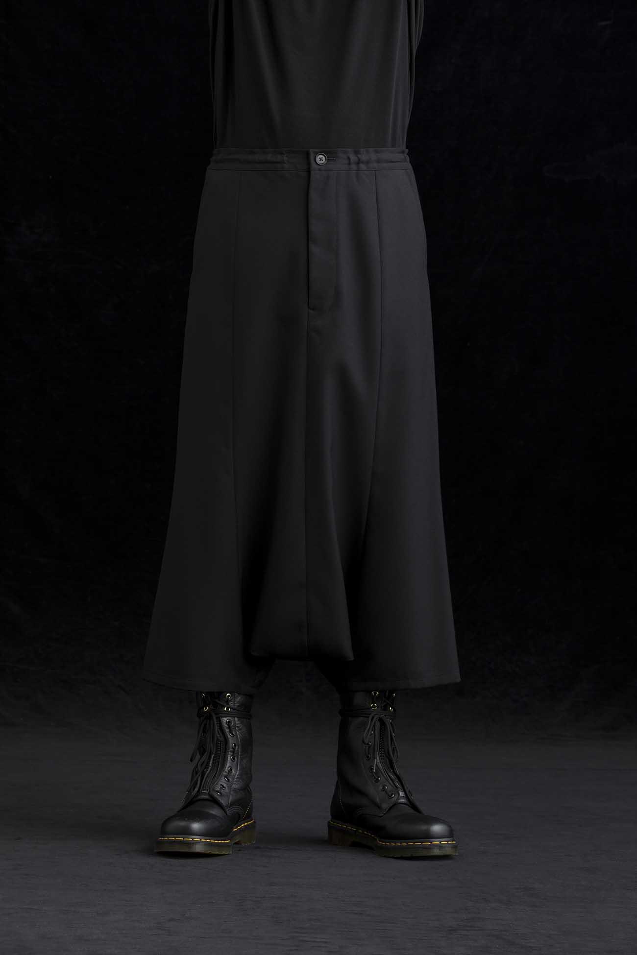 T/W Gabardine Wide Saruel Pants
