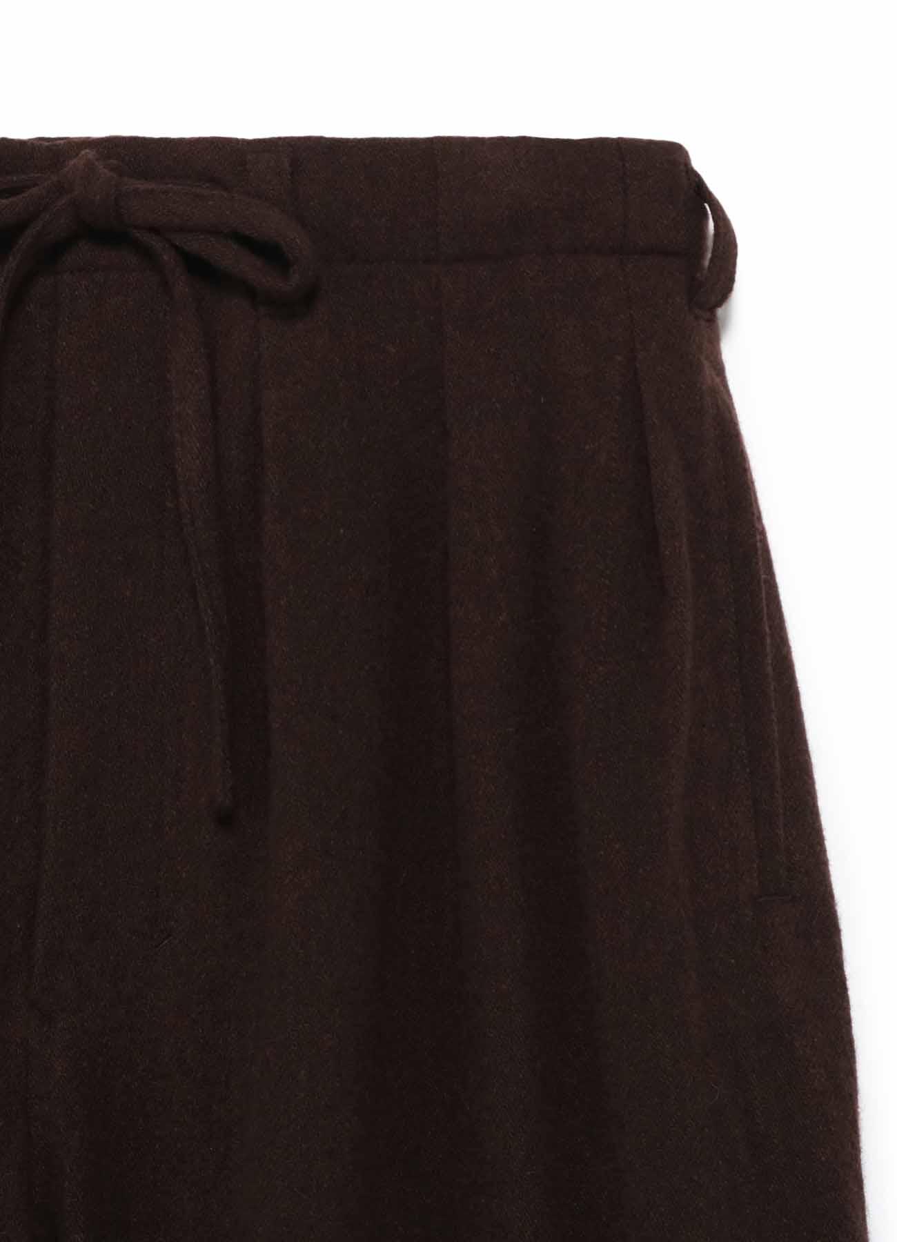 Vintage Flannel Hem Rib Balloon Pants