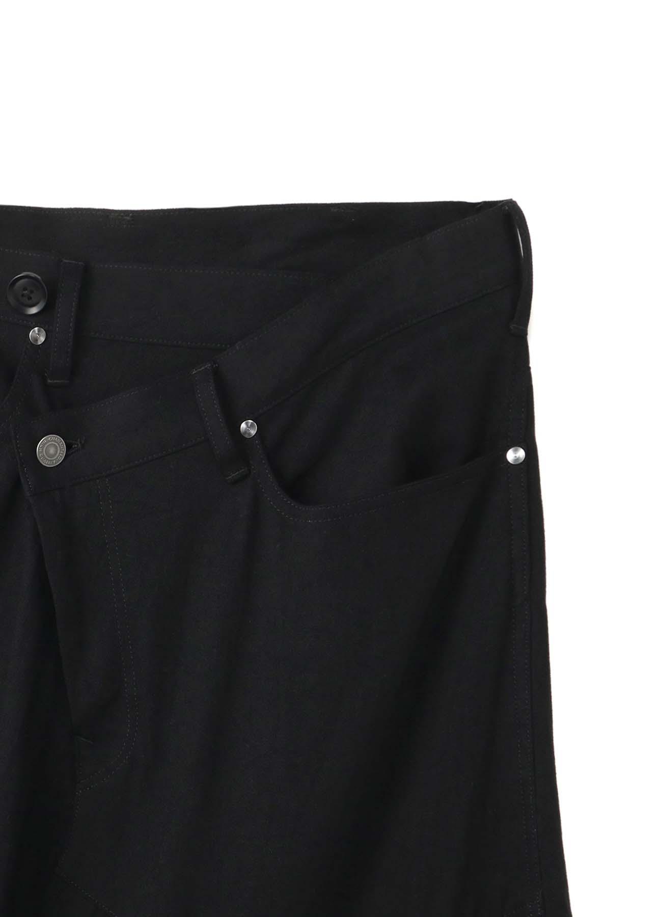 <Ground Y×7ORDER Collaboration Project>7.5oz Black Denim One Shoulder Flare Pants
