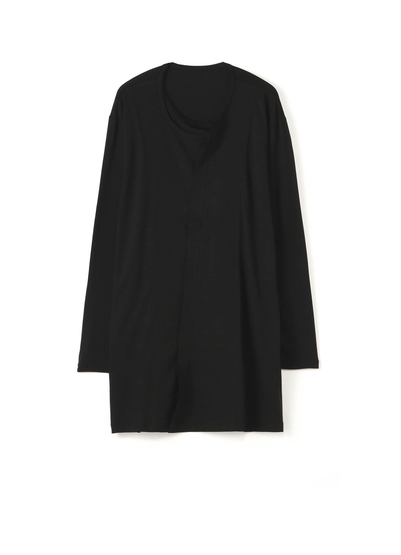 Modal Cotton Double Collar Long Cardigan