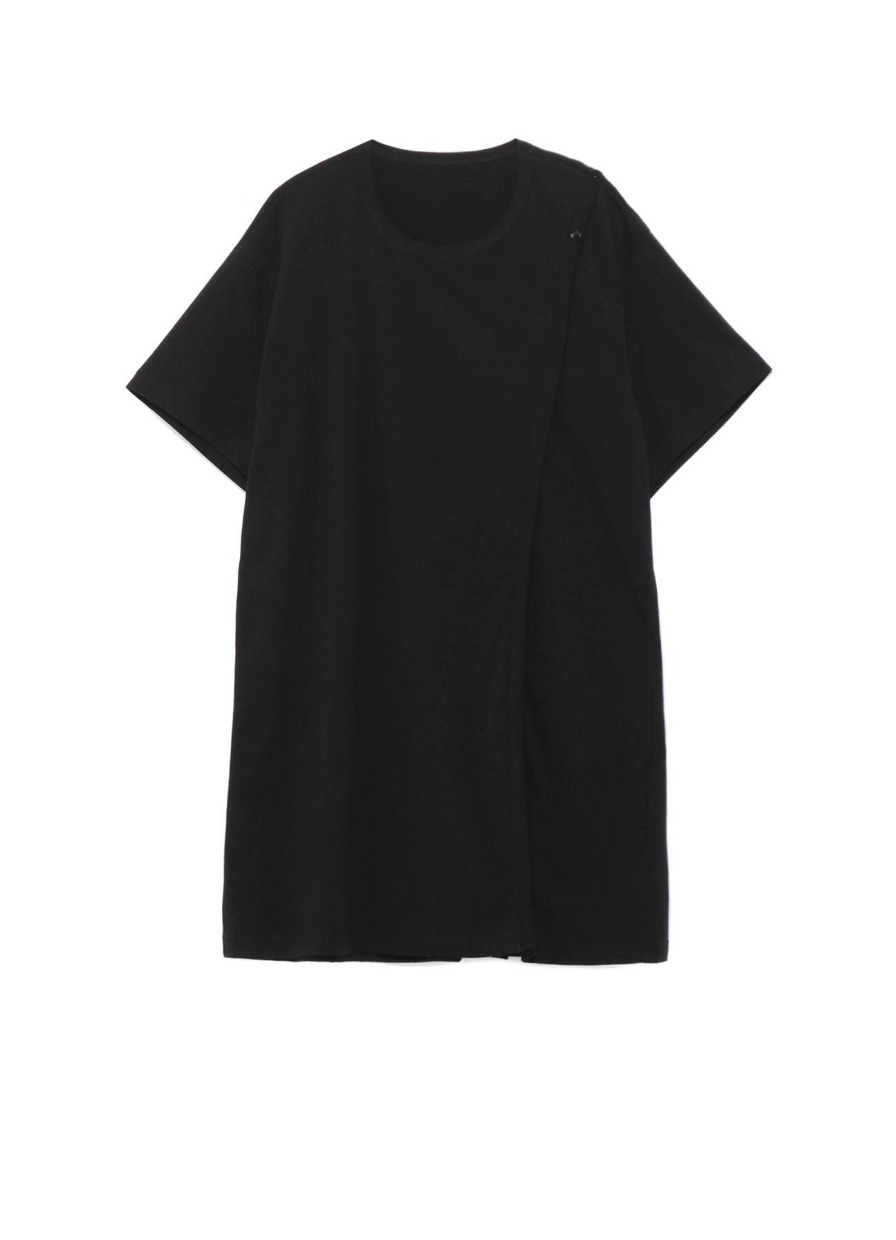 Cotton Jersey Right Buttons Straight T Short Sleeves