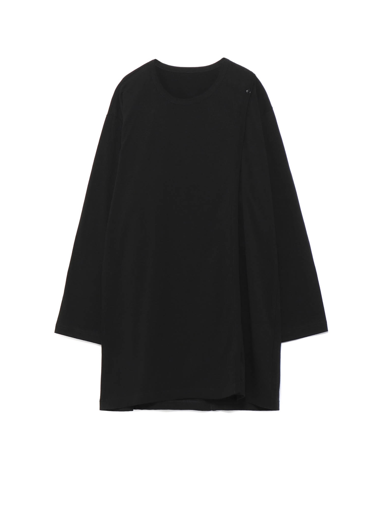 Cotton Jersey Right Buttons Straight T Long Sleeves