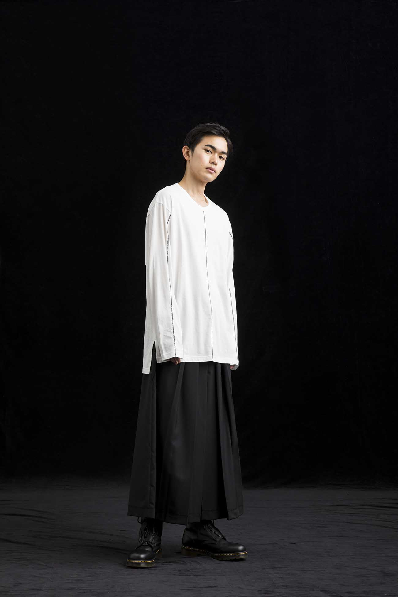 Cotton Jersey Square T Long Sleeves