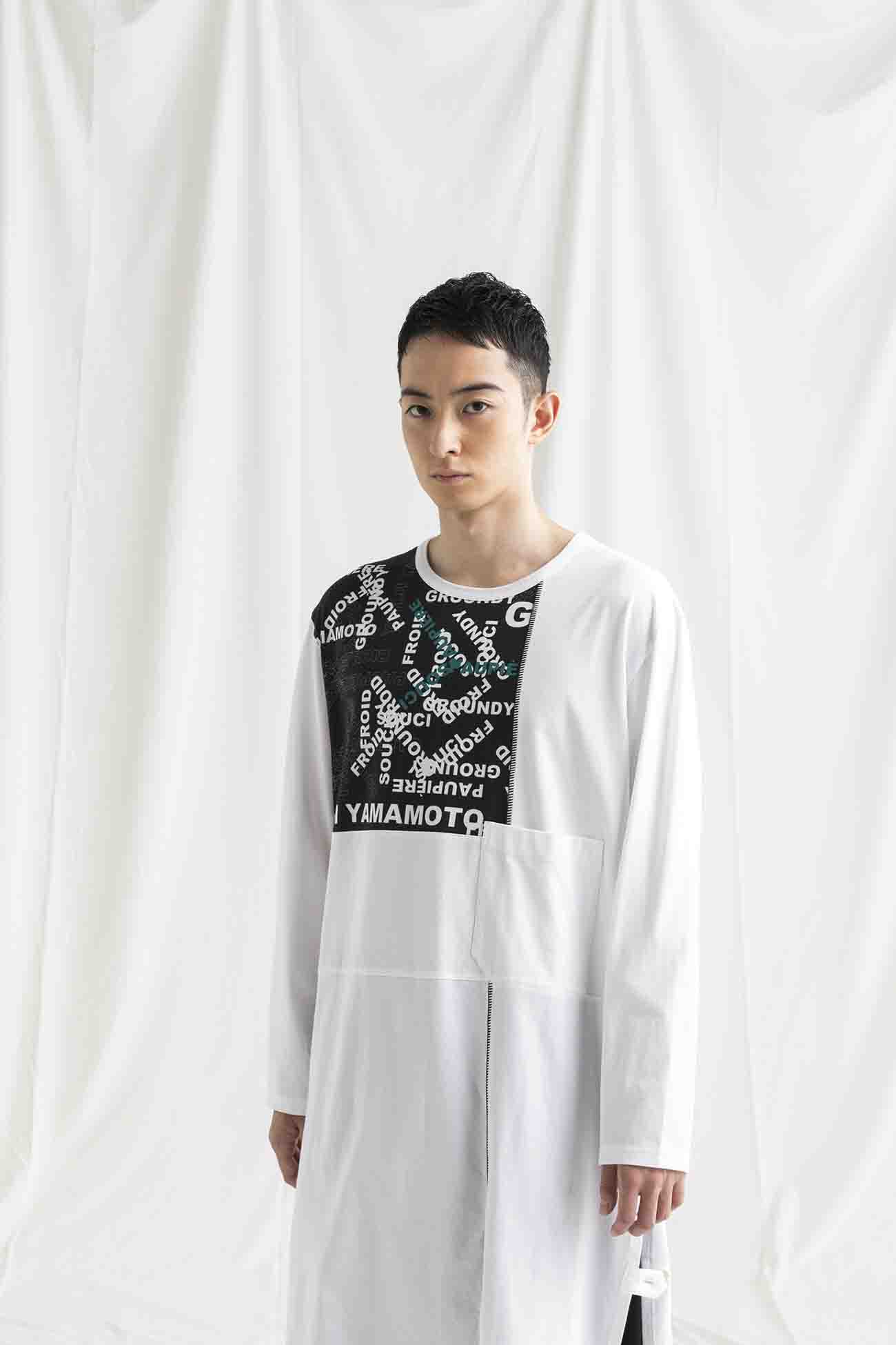 Jersey Logo Combination Type A Patchwork Long Sleeves T