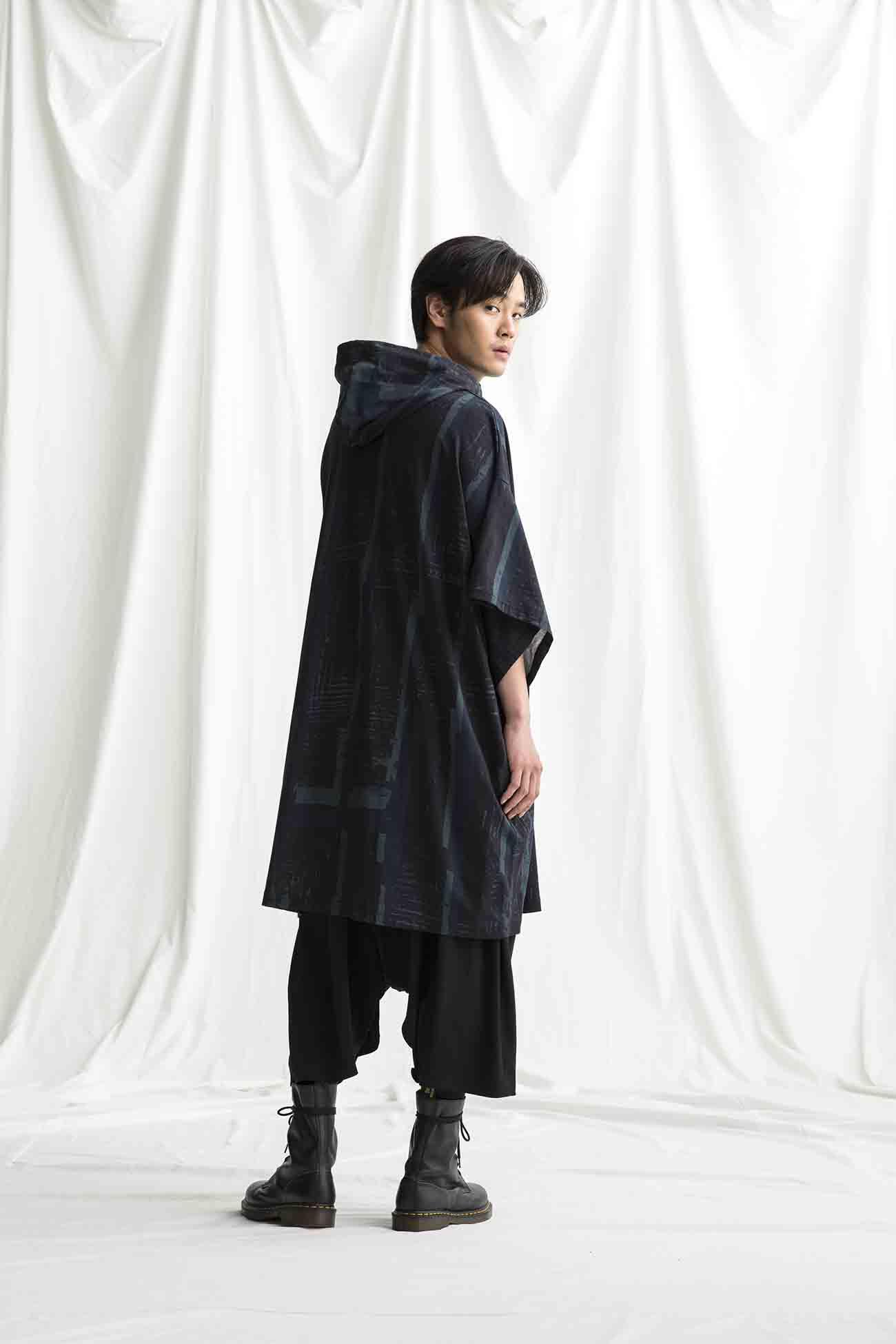 [Degas] Jersey 3/4 Sleeve Long Hoodie