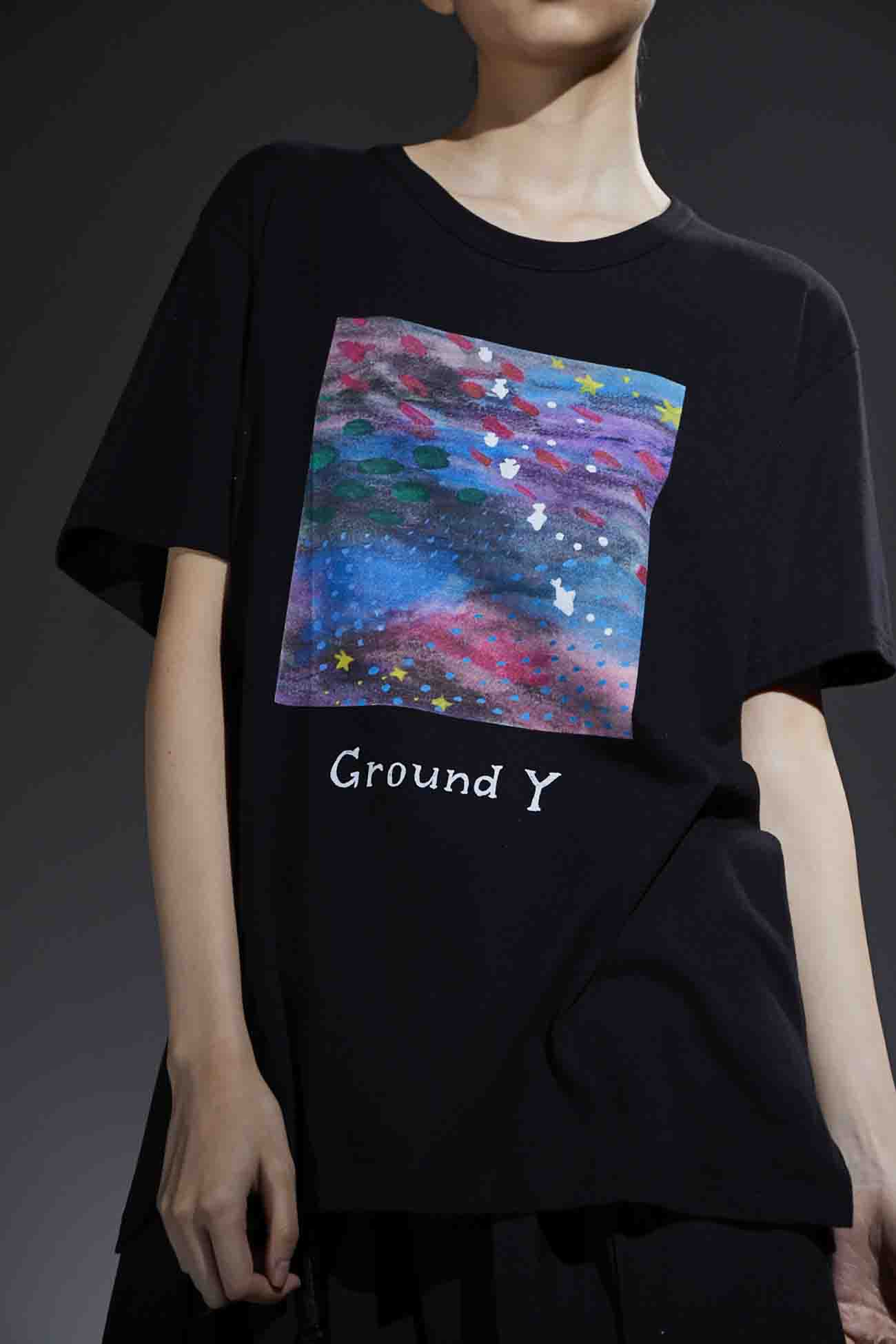 【Ground Y×Mai Fukagawa Collection】30/-Combed Cotton Jersey Cut Sew [夢の中]