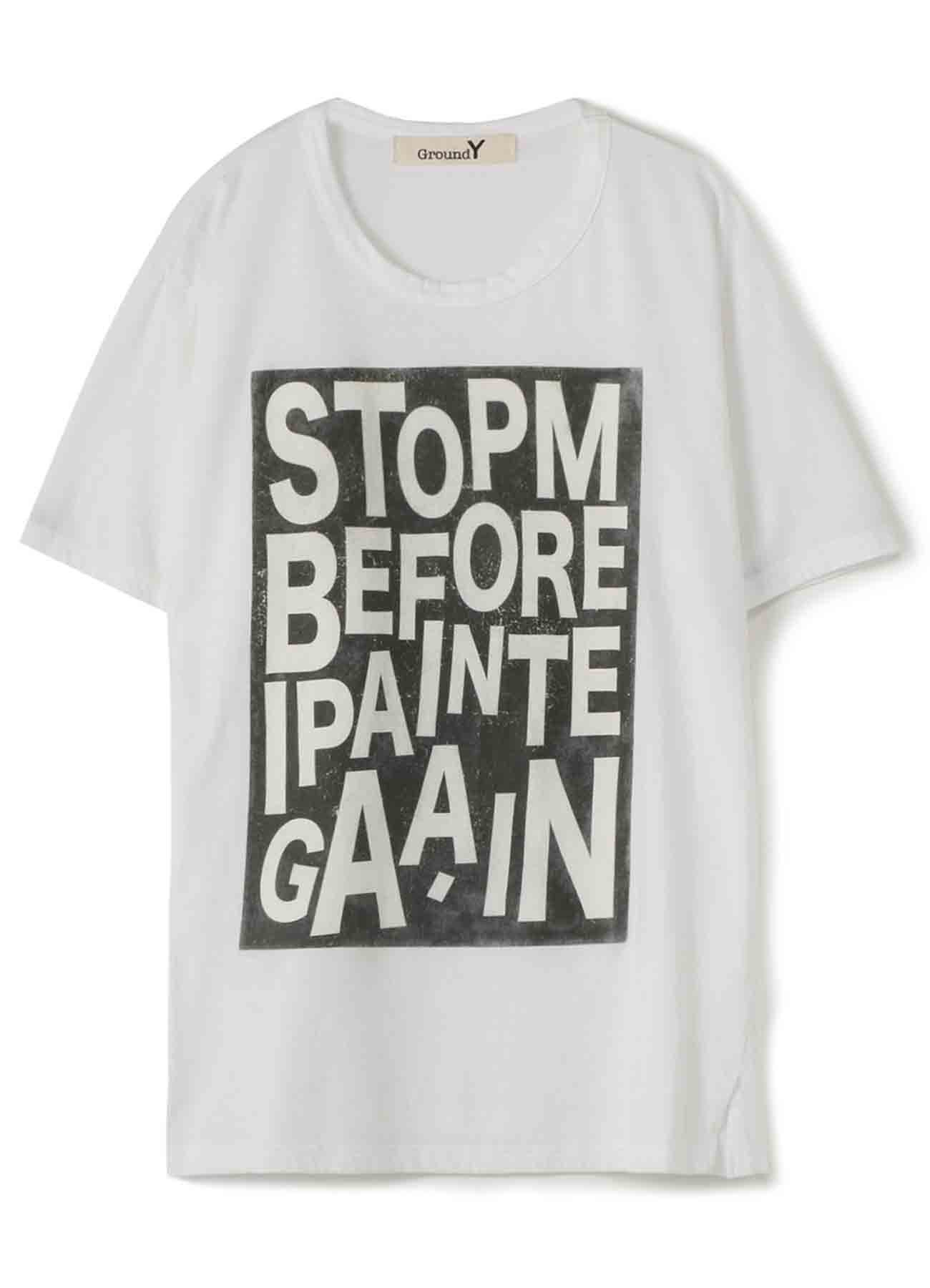 【THE SHOP Limited Edition】30/-Combed Cotton Jersey Graphic T 「STOP ME BEFORE I PAINT AGAIN.」