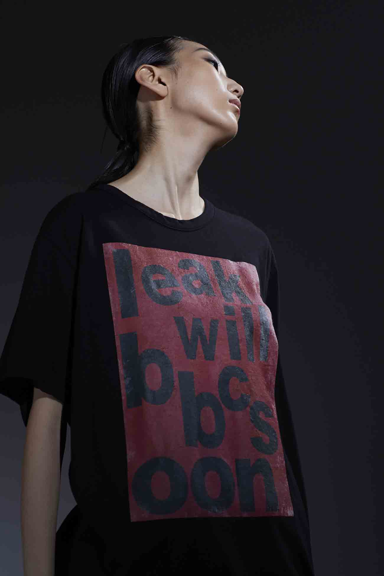 【THE SHOP Limited Edition】30/-Combed Cotton Jersey Graphic T 「I will back soon」