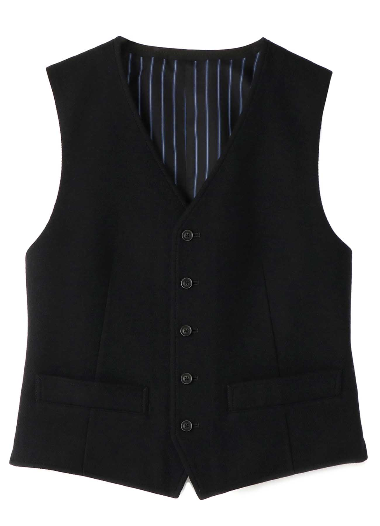 Twill Flannel Five Buttons Single Vest