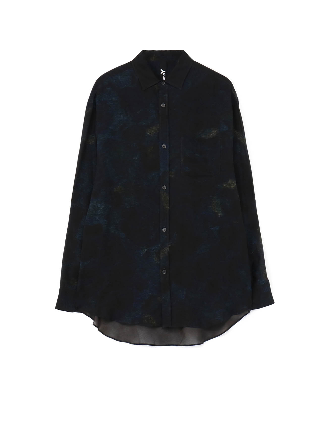 Flower Georgette Big Sleeves Shirt