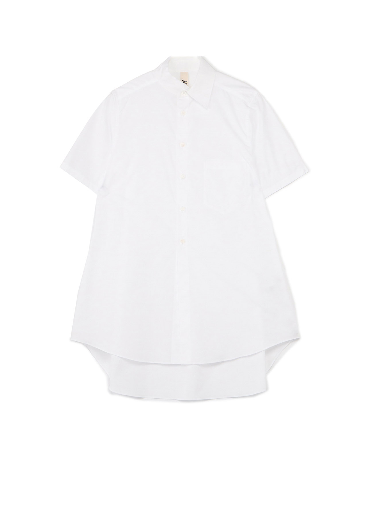 100/2 Cotton Broad Collar Cutoff Short Sleeves Shirt
