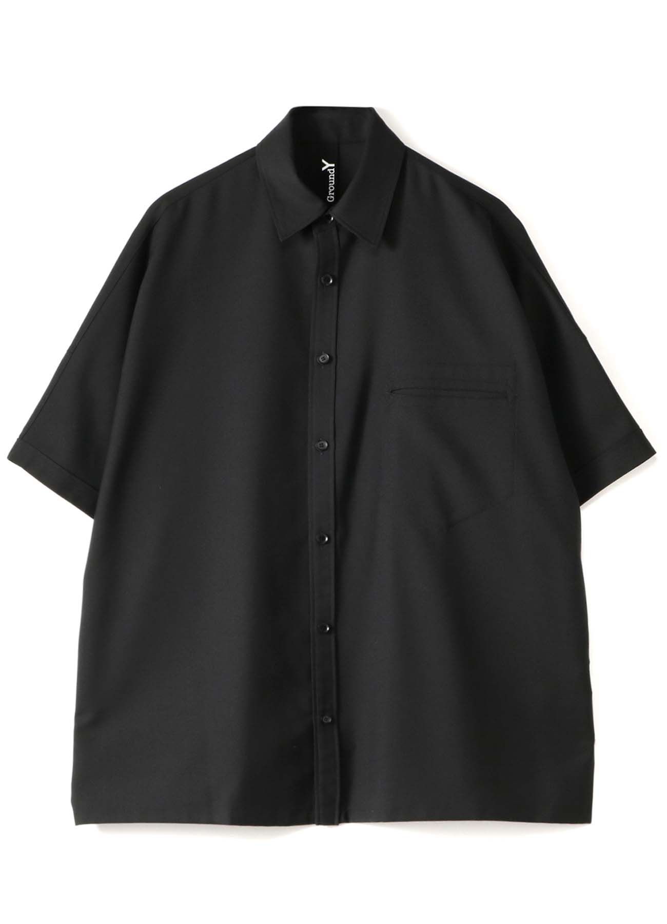 T/W Gabardine Dolman Short Sleeves Big Shirt