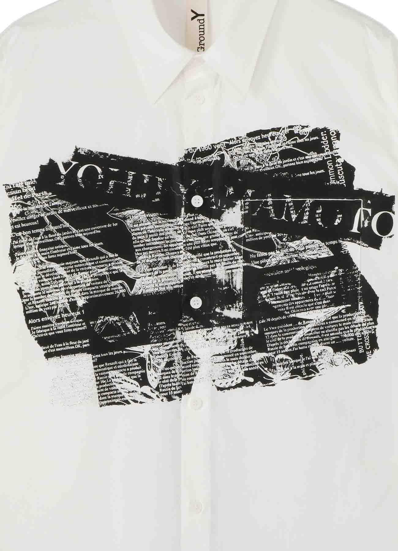 Basic Shirt English Newspaper Pattern
