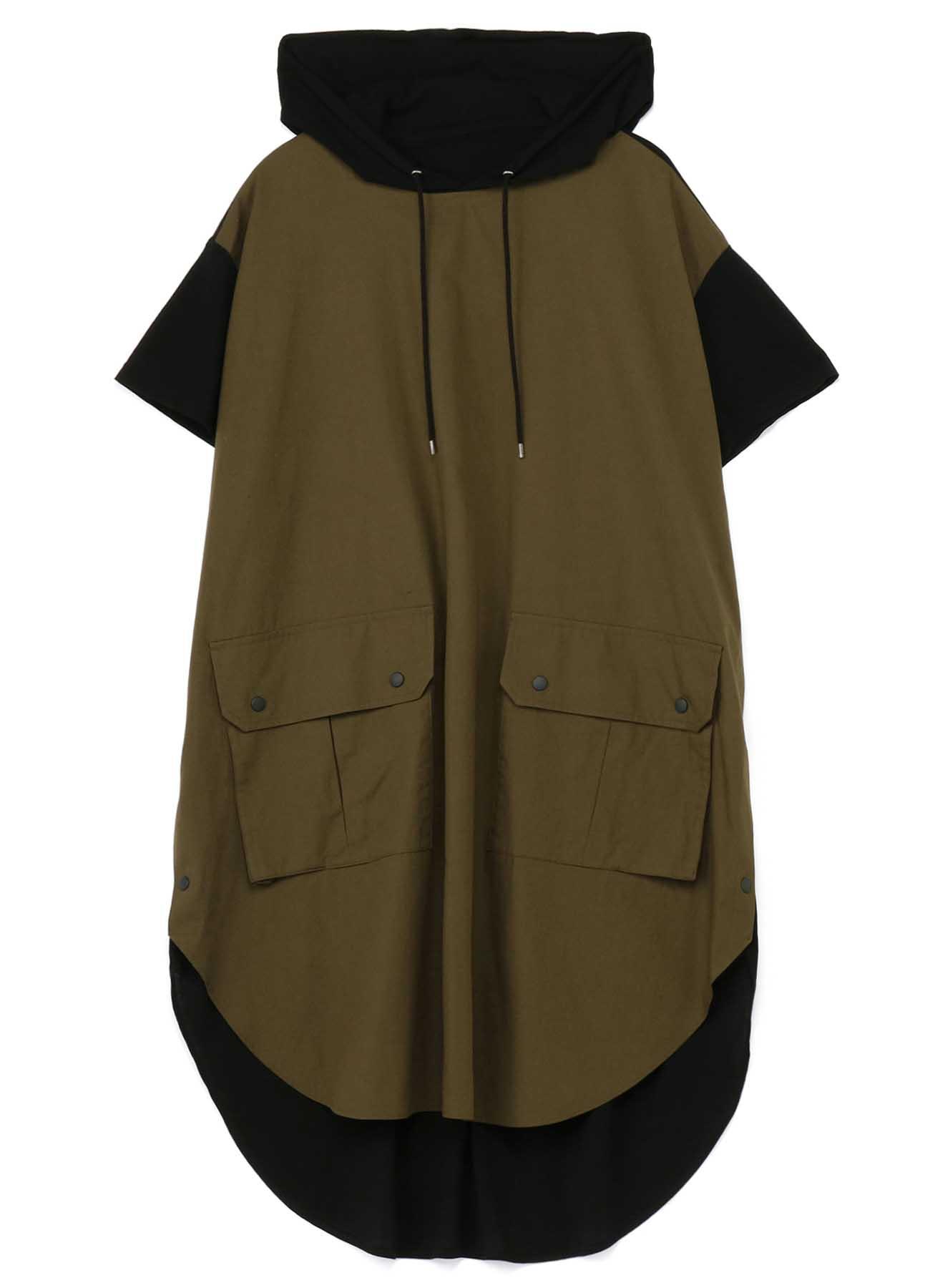 Big Hood Short Sleeves Dress