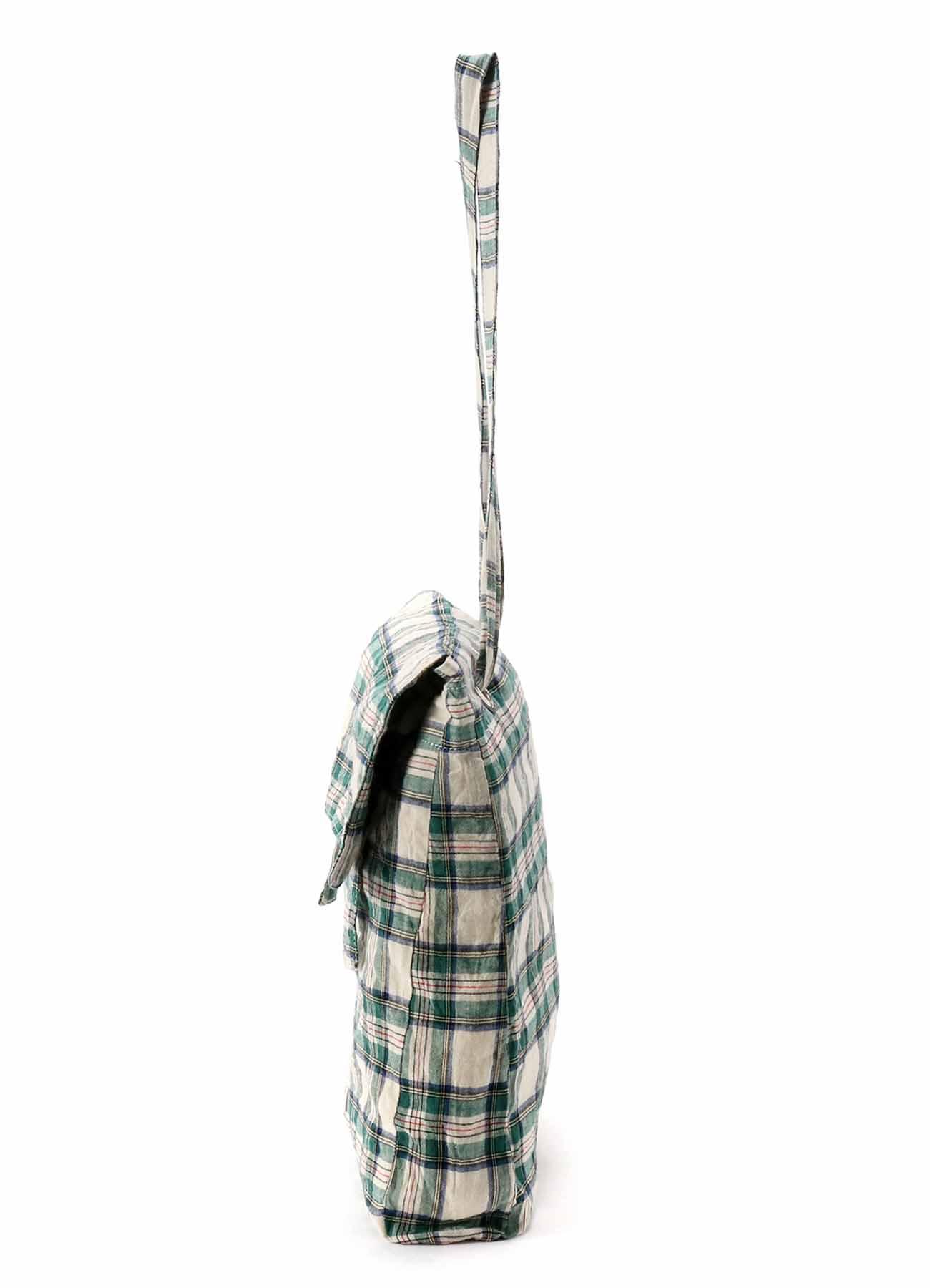 Check Stretch Flap Pocket Bag