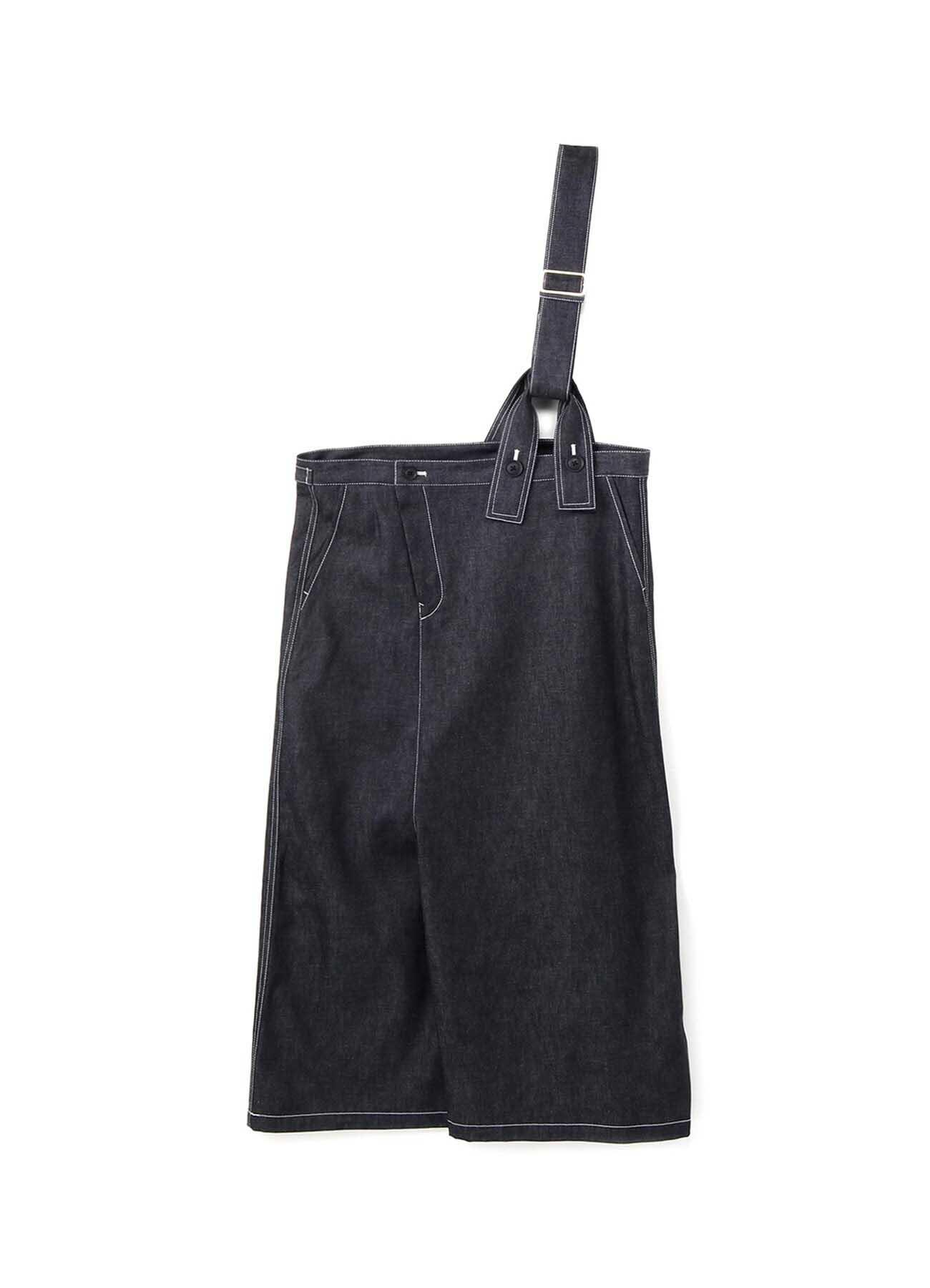 6oz Denim Shoulder High Asymmetry Pants