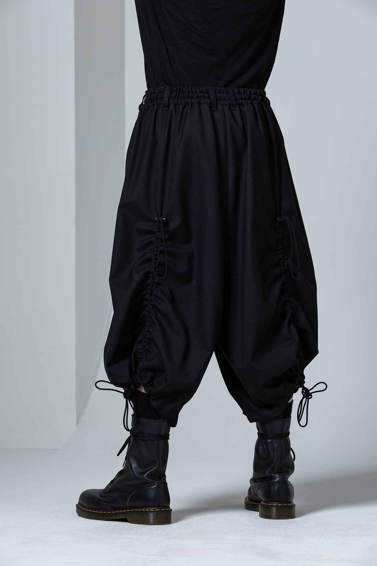 T/W Gabardine Drawstring Gaucho Pants