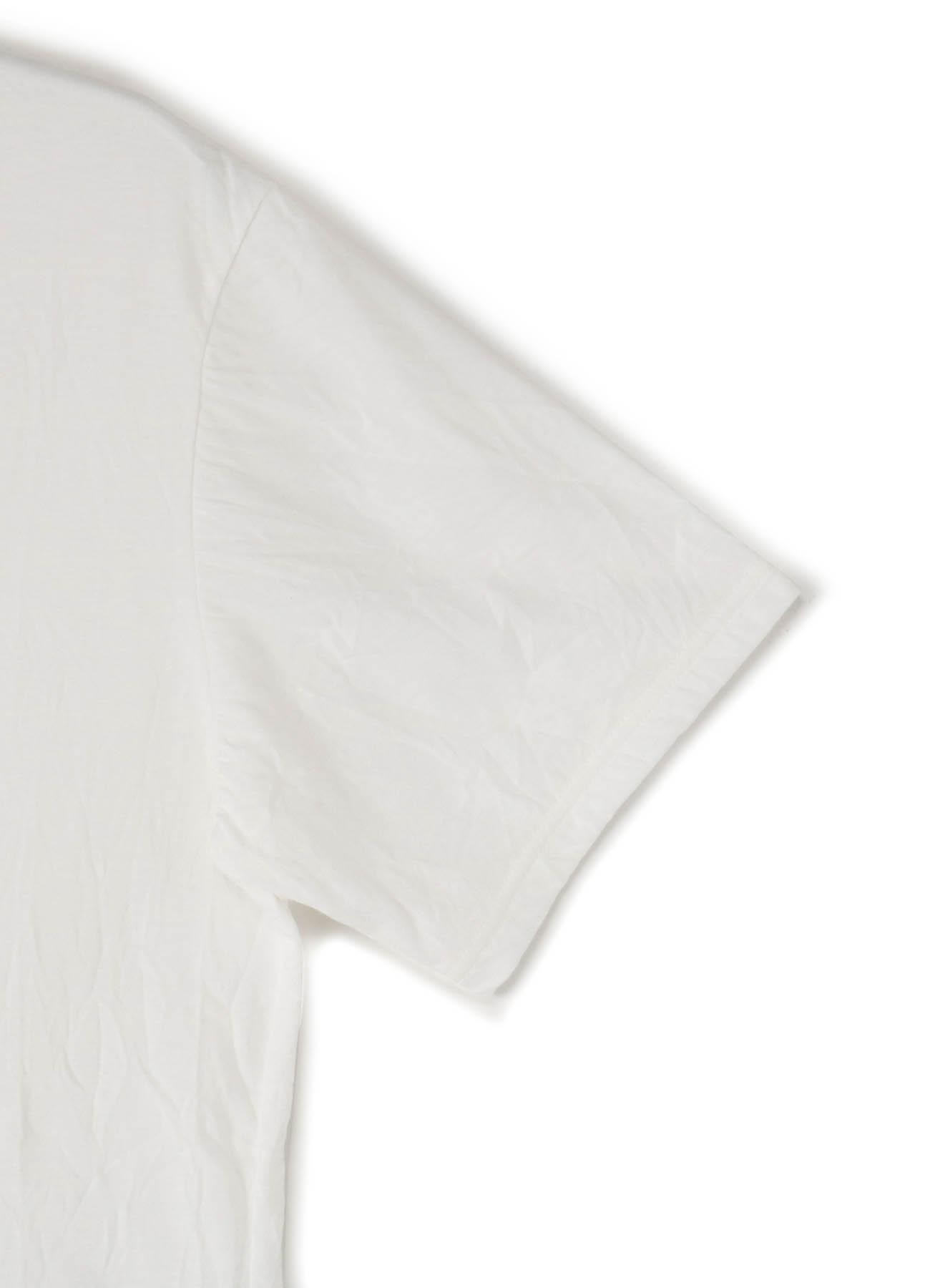 C/Pe Washer Jersey Hem Docking Short Sleeves Cut Sew
