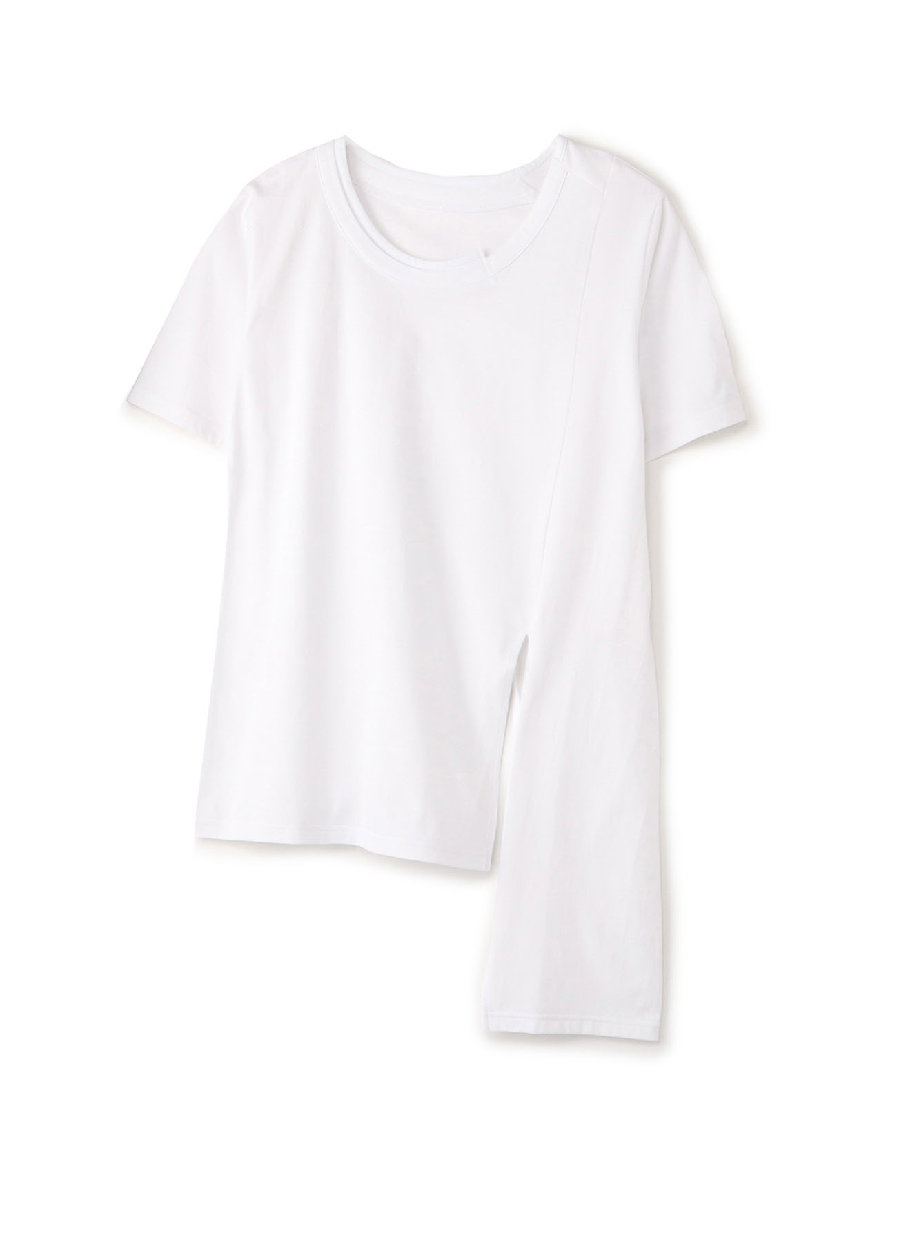 30/Cotton Jersey Asymmetry Short Sleeves Cut Sew
