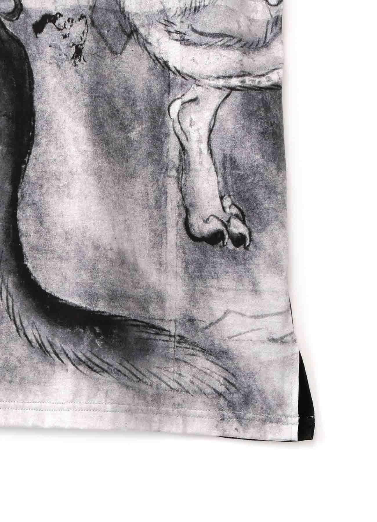 河鍋暁斎「鳥獣戯画 梟と狸の祭礼行列」 Big Cut Sew