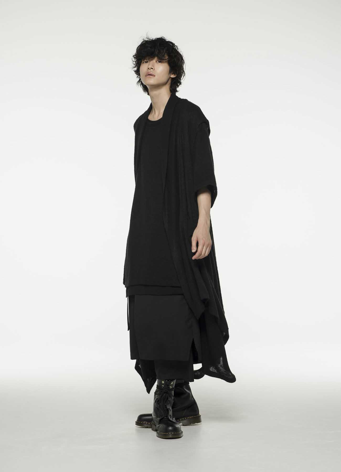 Tamm纱平针侧褶连衣裙无袖