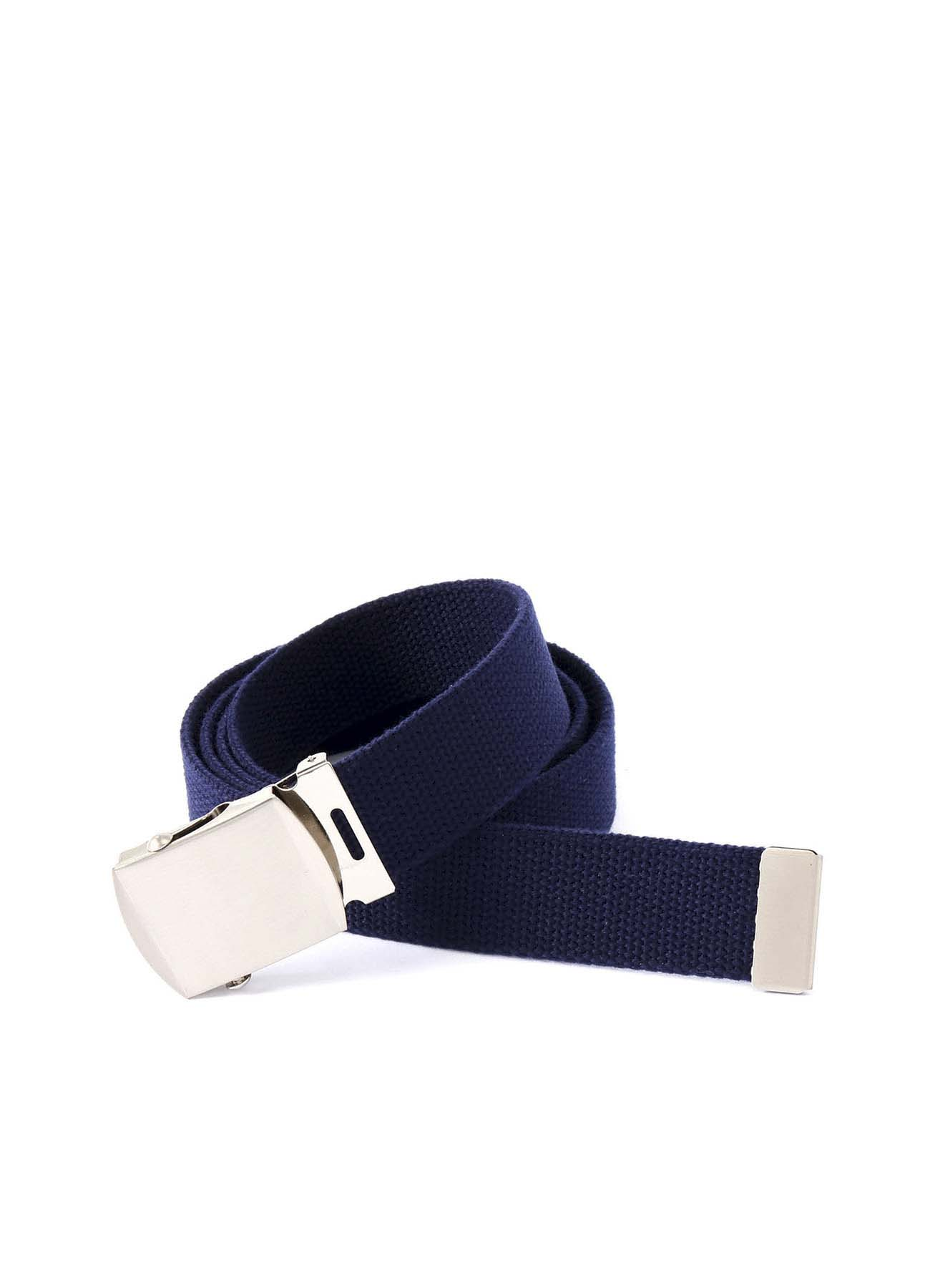 Cotton Canvas Logo Ratchet Belt