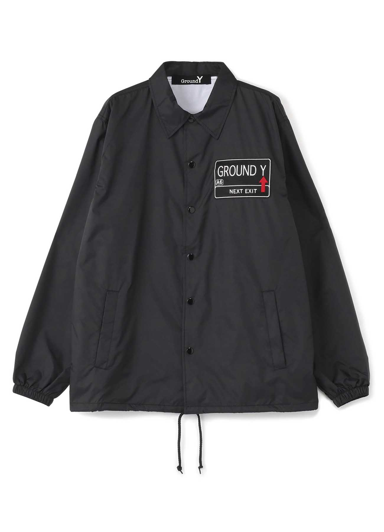 GYワッペン/凛 プリント  ナイロンコートジャケット