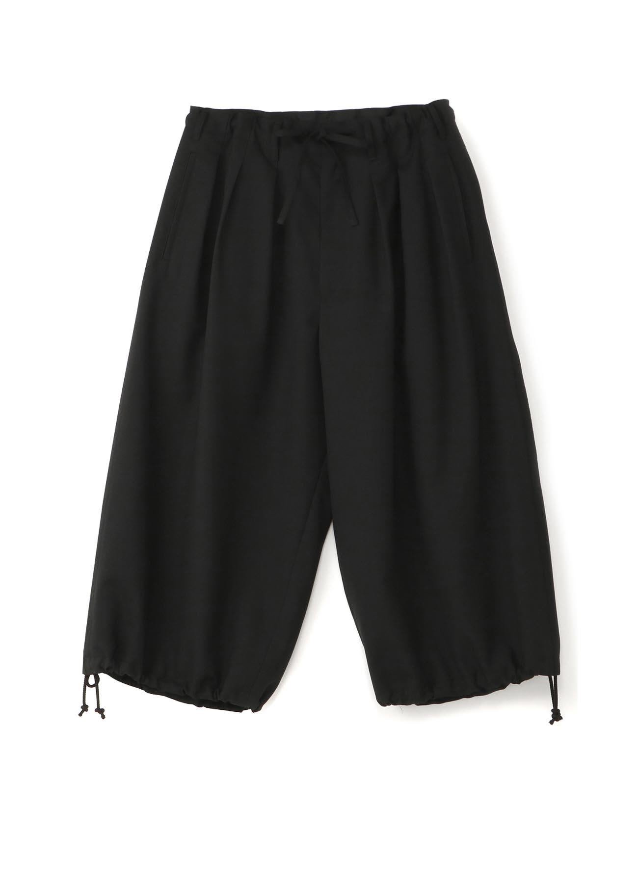经典混纺抽绳灯笼裤