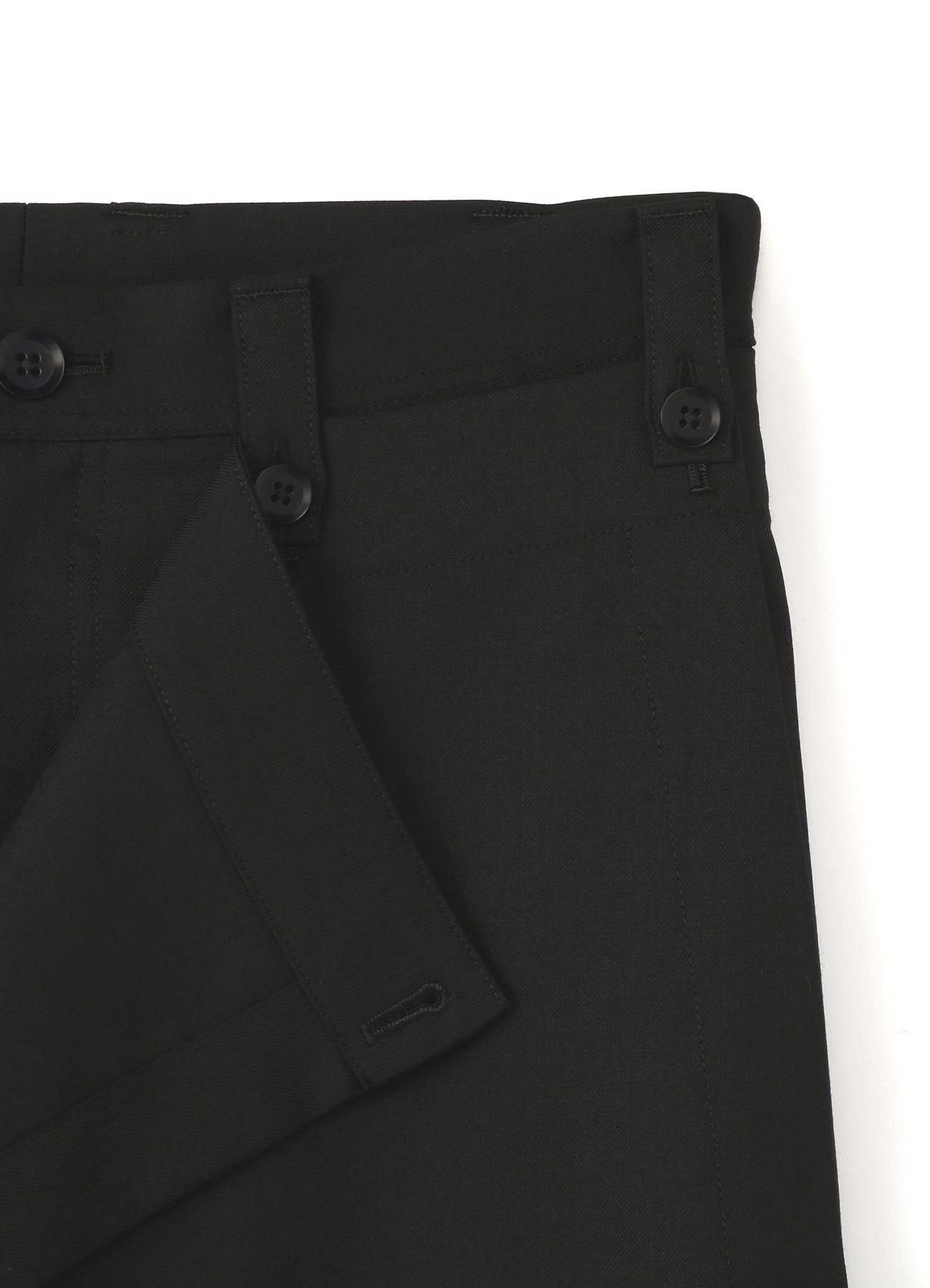 经典W / E. 轧别丁哔叽 Tuck裤子附有裙子