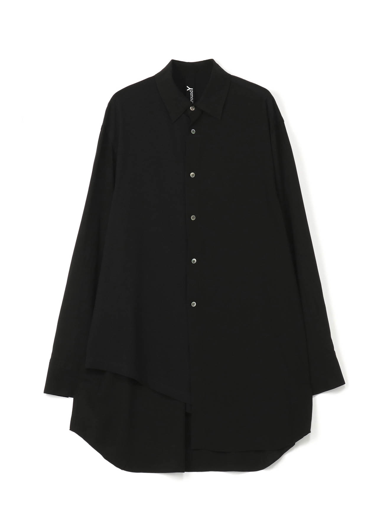 Ry/斜纹&30 /天竺棉不对称衬衫