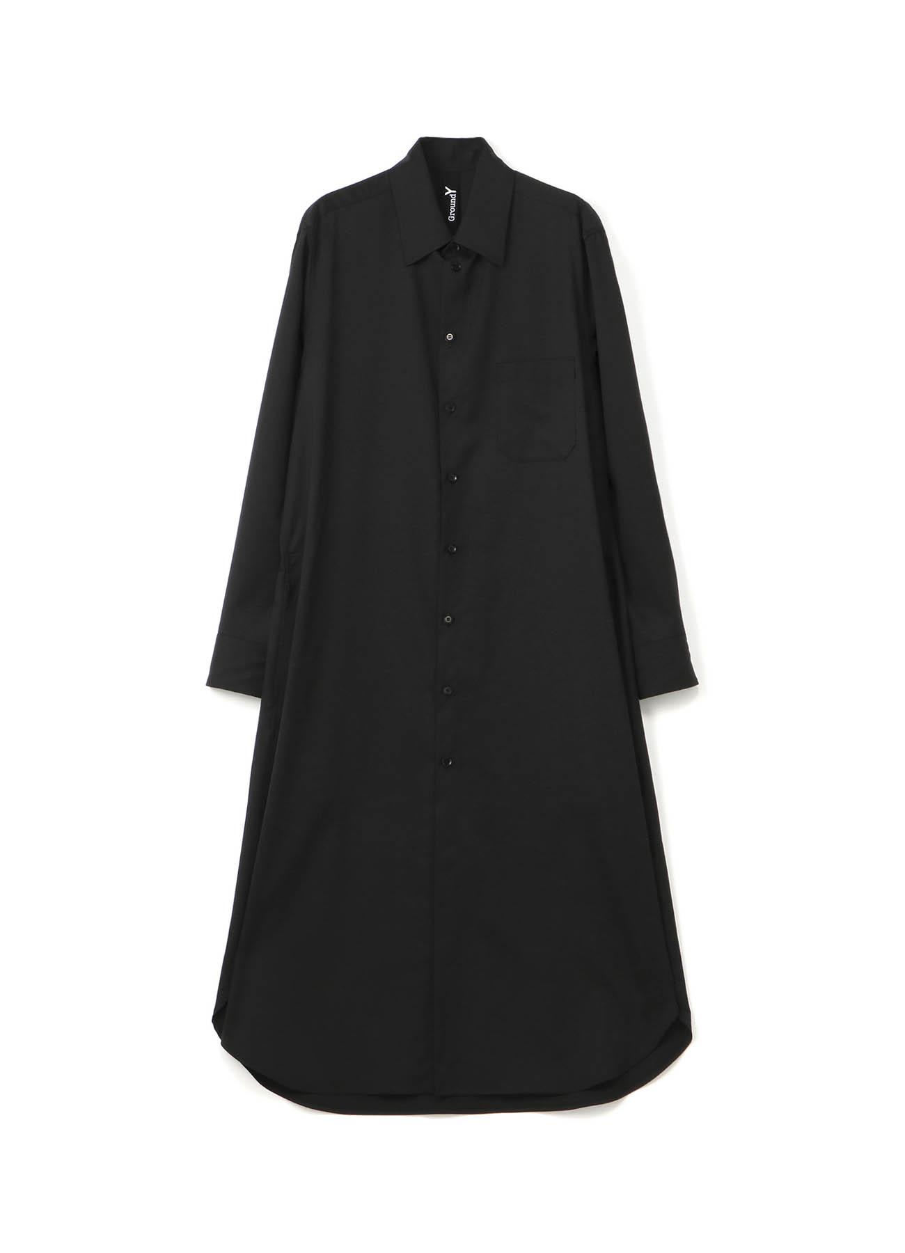 羊毛哔叽长衬衫连衣裙