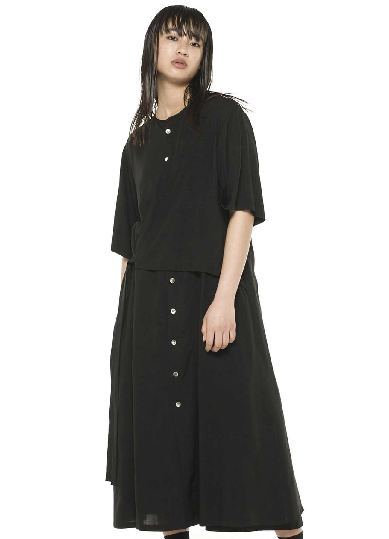 Rayon Lawn Left Chest Extra Layer Dress