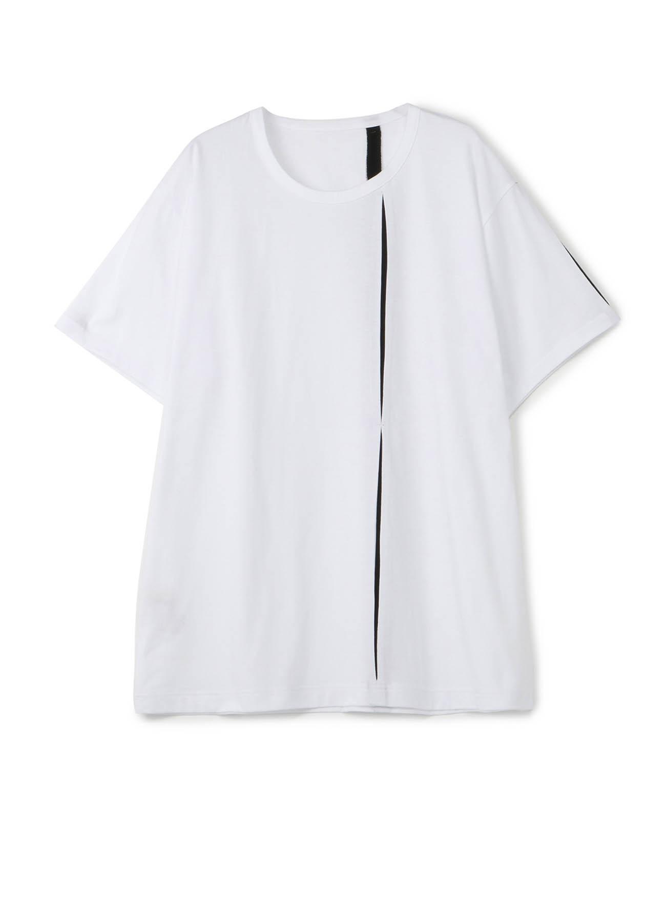 30棉平纹针织Tsujigiri剪裁和缝制短袖