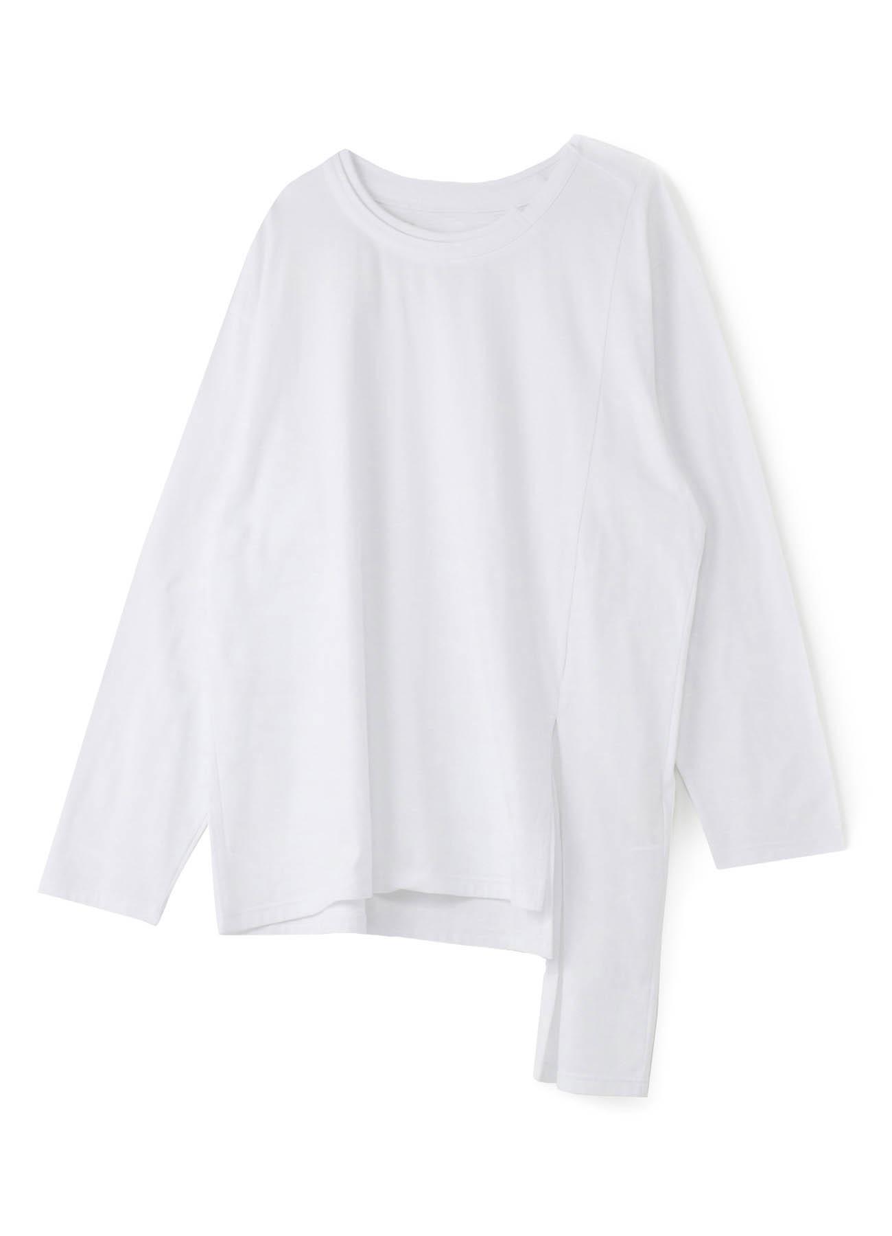 30 Cotton Plain Stitch不对称剪裁和缝制长袖