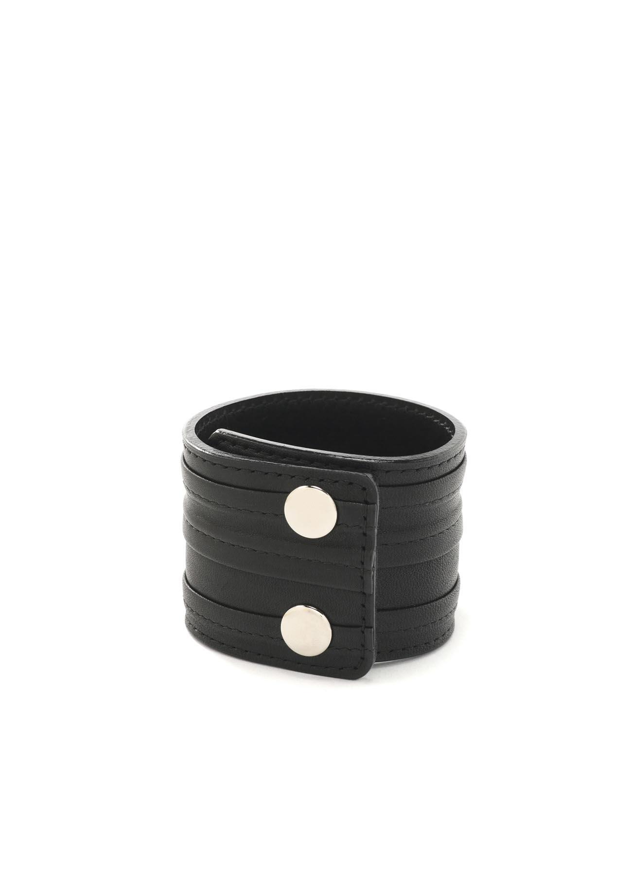 光滑皮革折纹手链