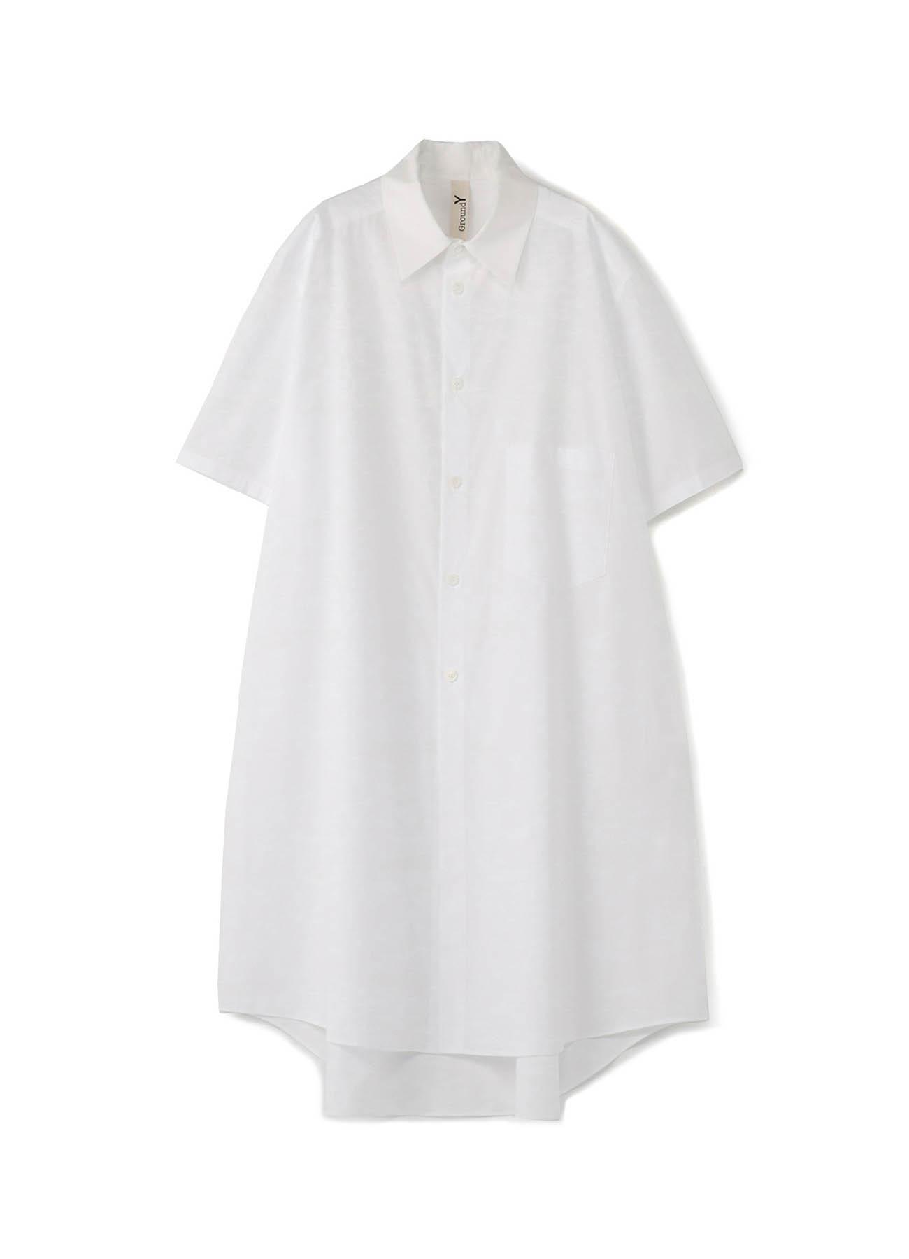 C / 棉府绸 大码短袖衬衫