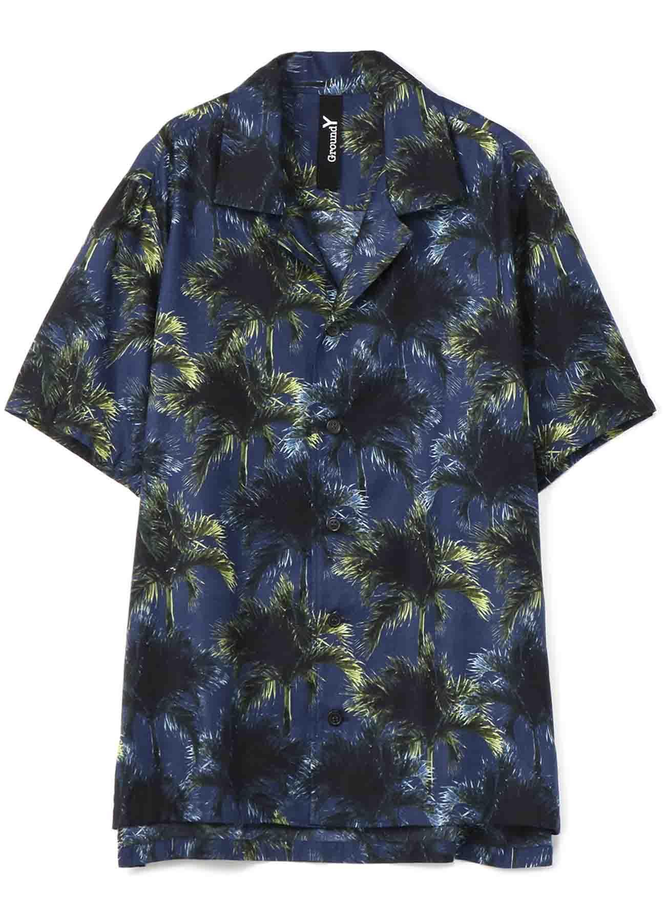 棕榈树印花短袖衬衫