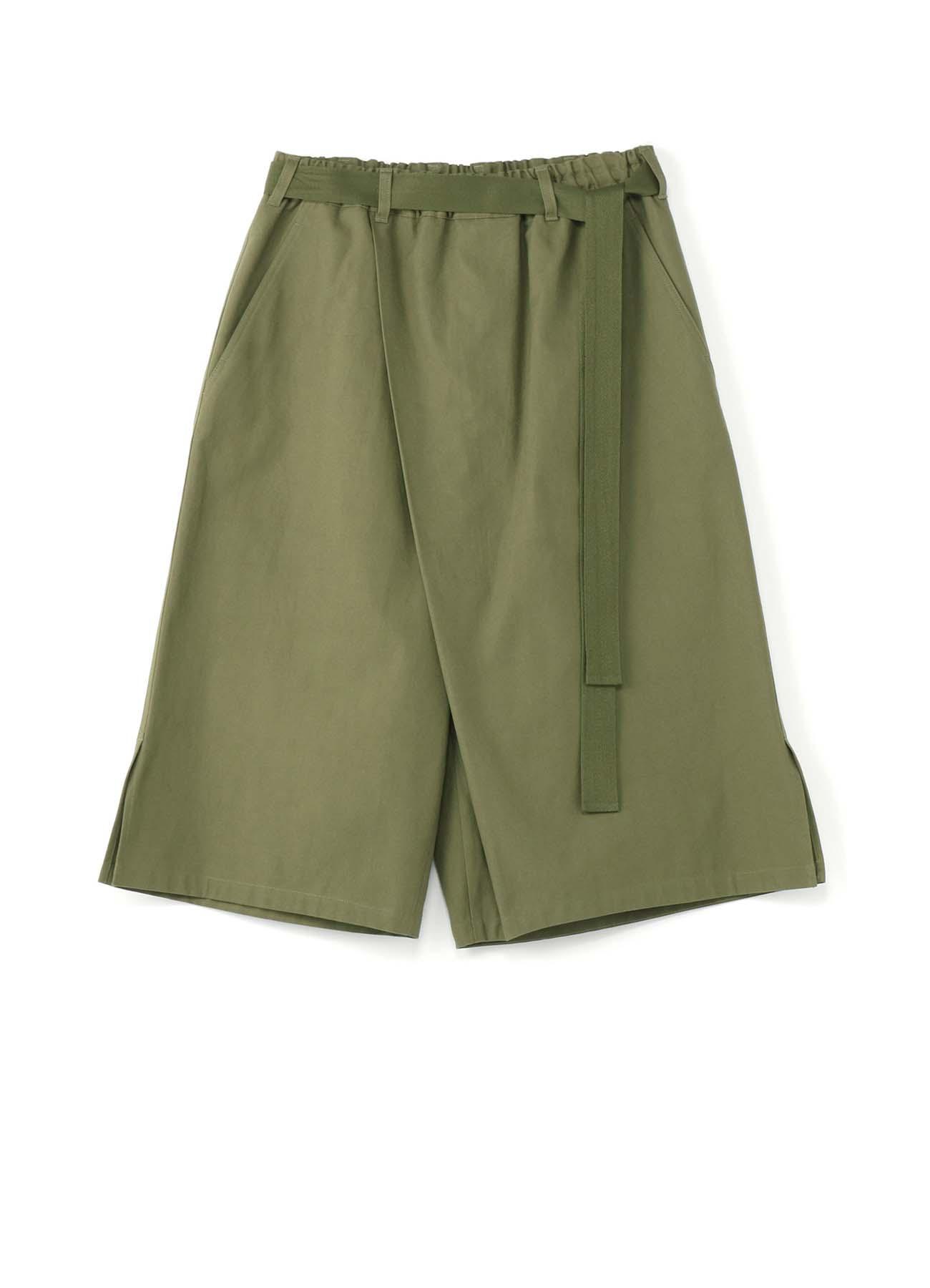 79A棉帆布 腰带宽裤