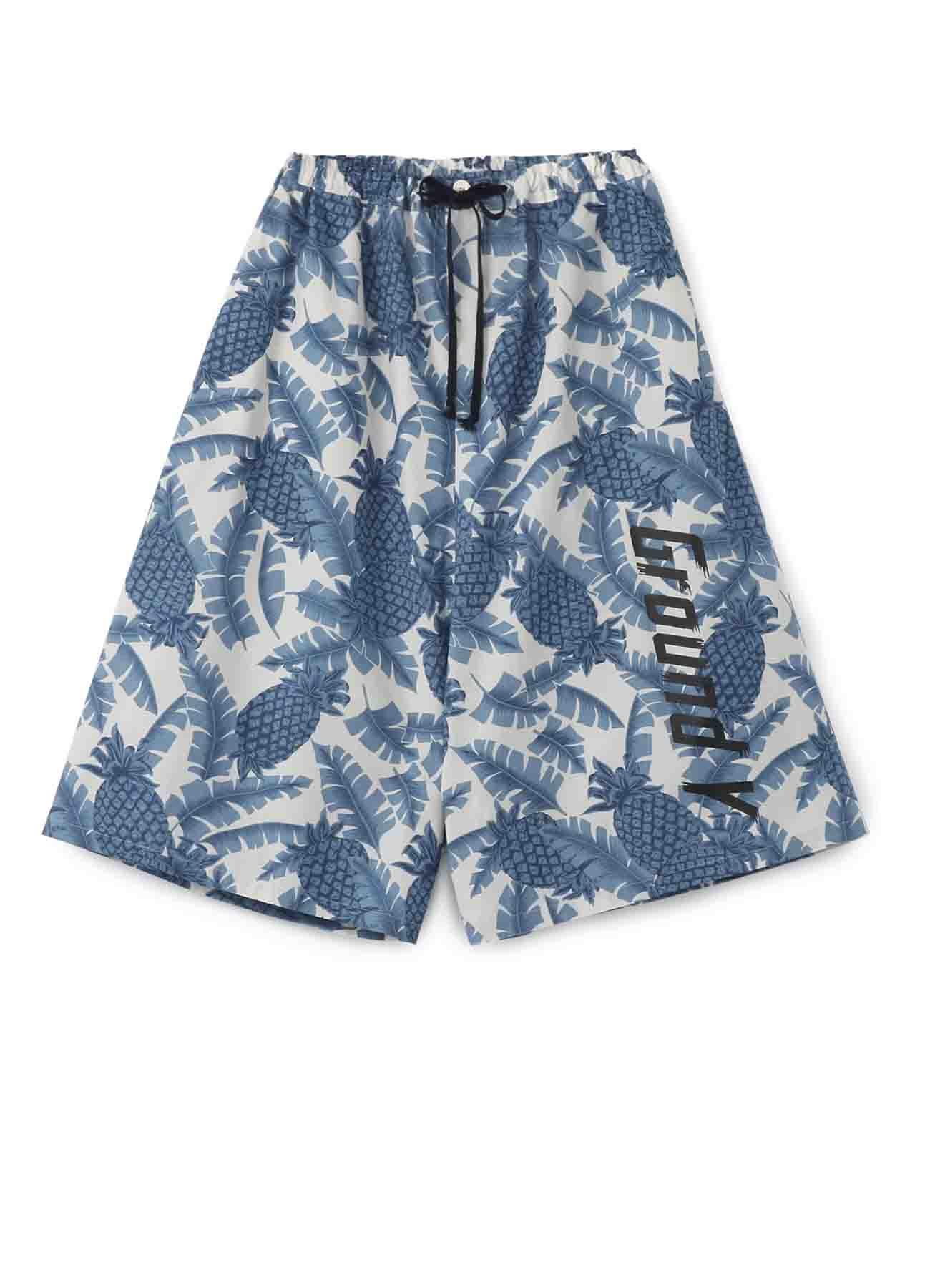 菠萝印花哈伦裤
