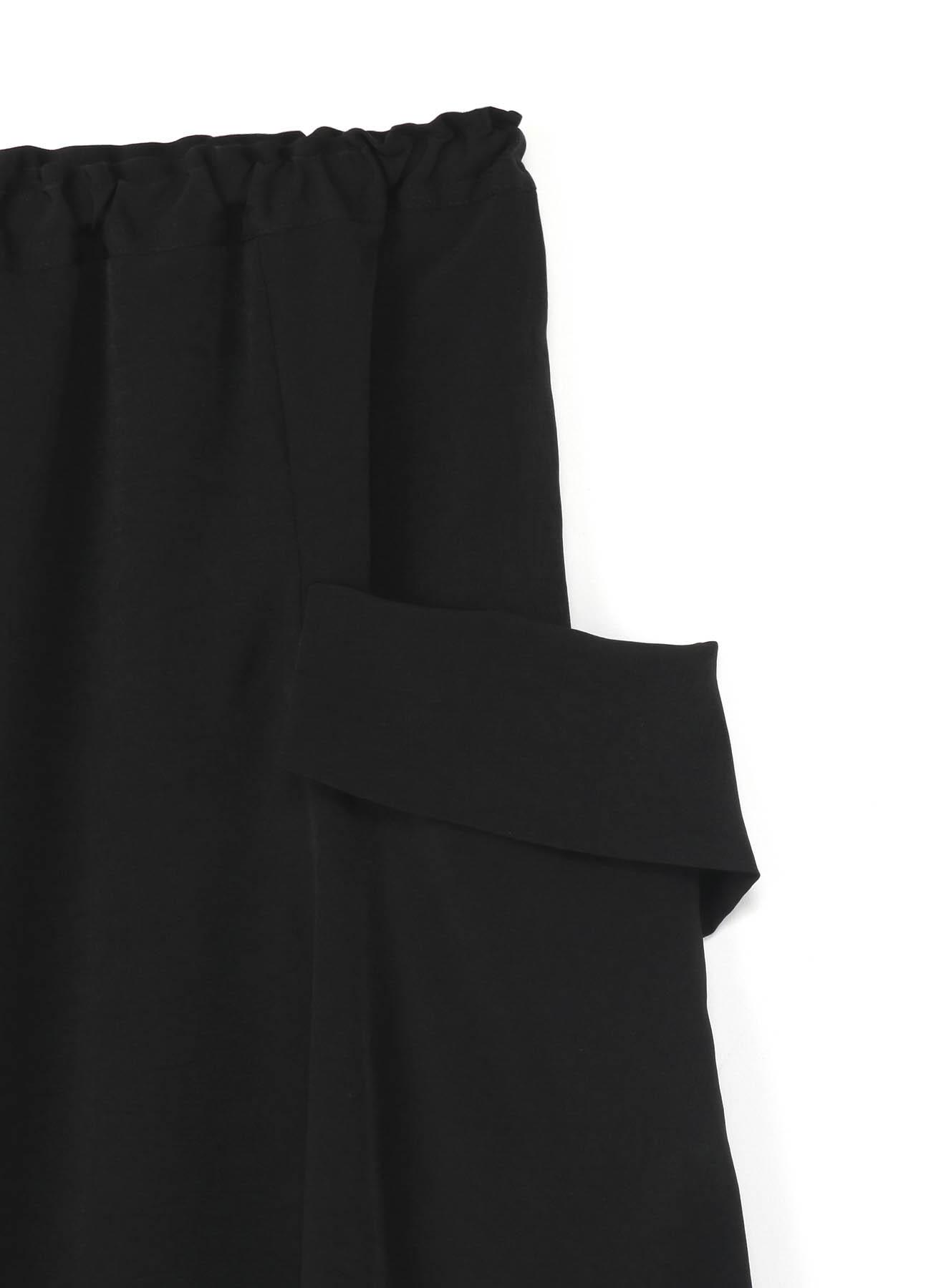 复古双绉 不对称褶裙