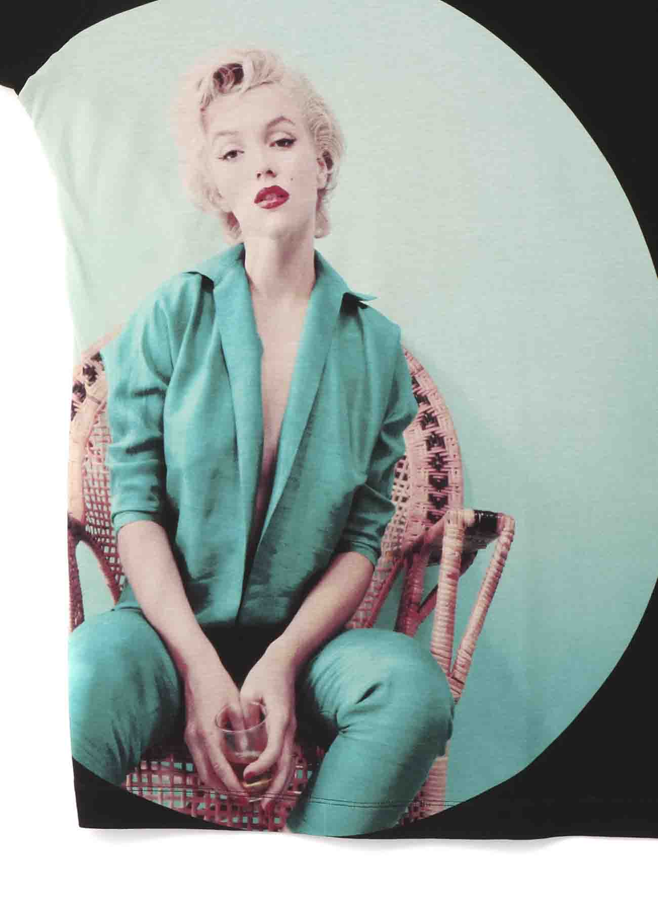 Marilyn Monroe Collaboration下摆开襟针织衫