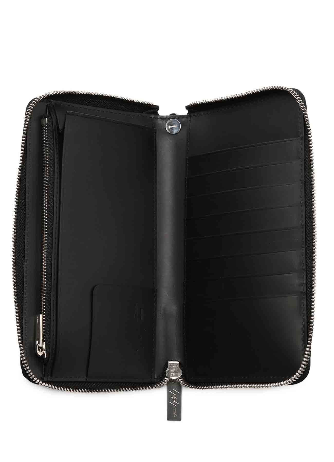 THICK NATURAL LEATHER FASTENER WALLET L