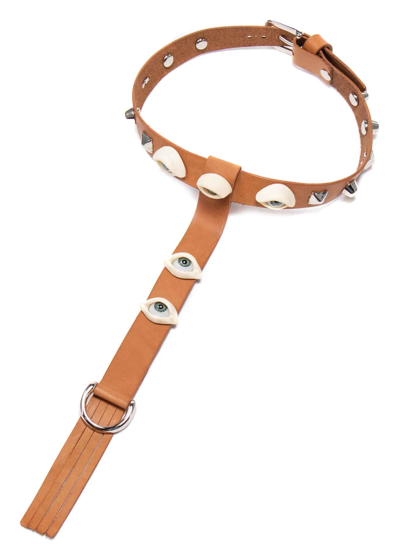 THICK TANNED EYE BUTTON CHOKER