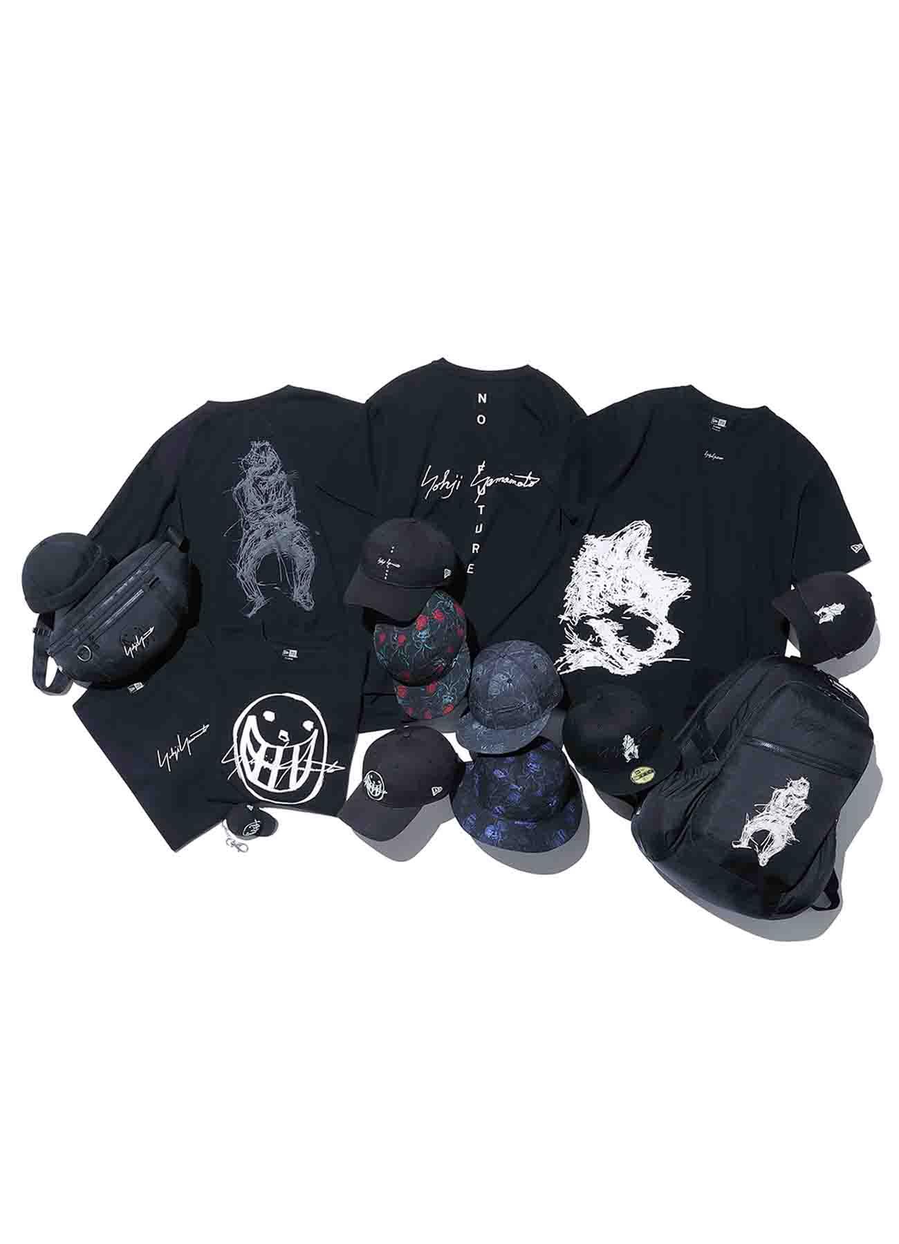 Yohji Yamamoto × New Era WOOL BLACK CAP KEYHOLDER SMILE LOGO