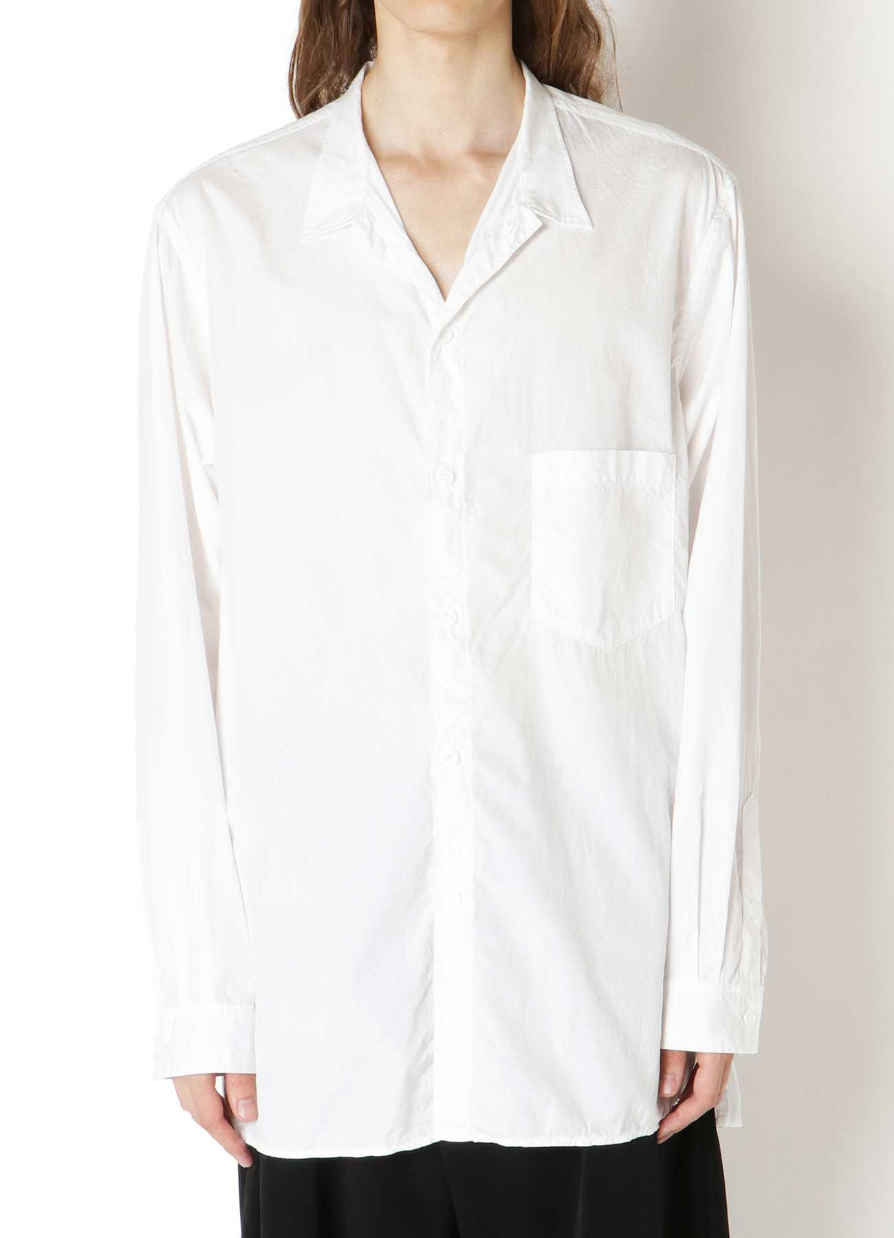 CHAIN STITCH BROAD STAND COLLAR BLOUSE