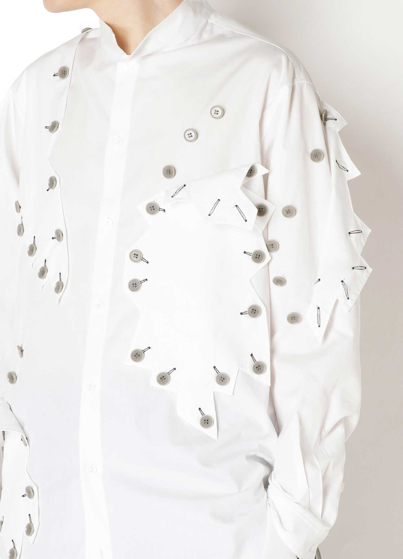 BROAD MOTIF STAND BLOUSE