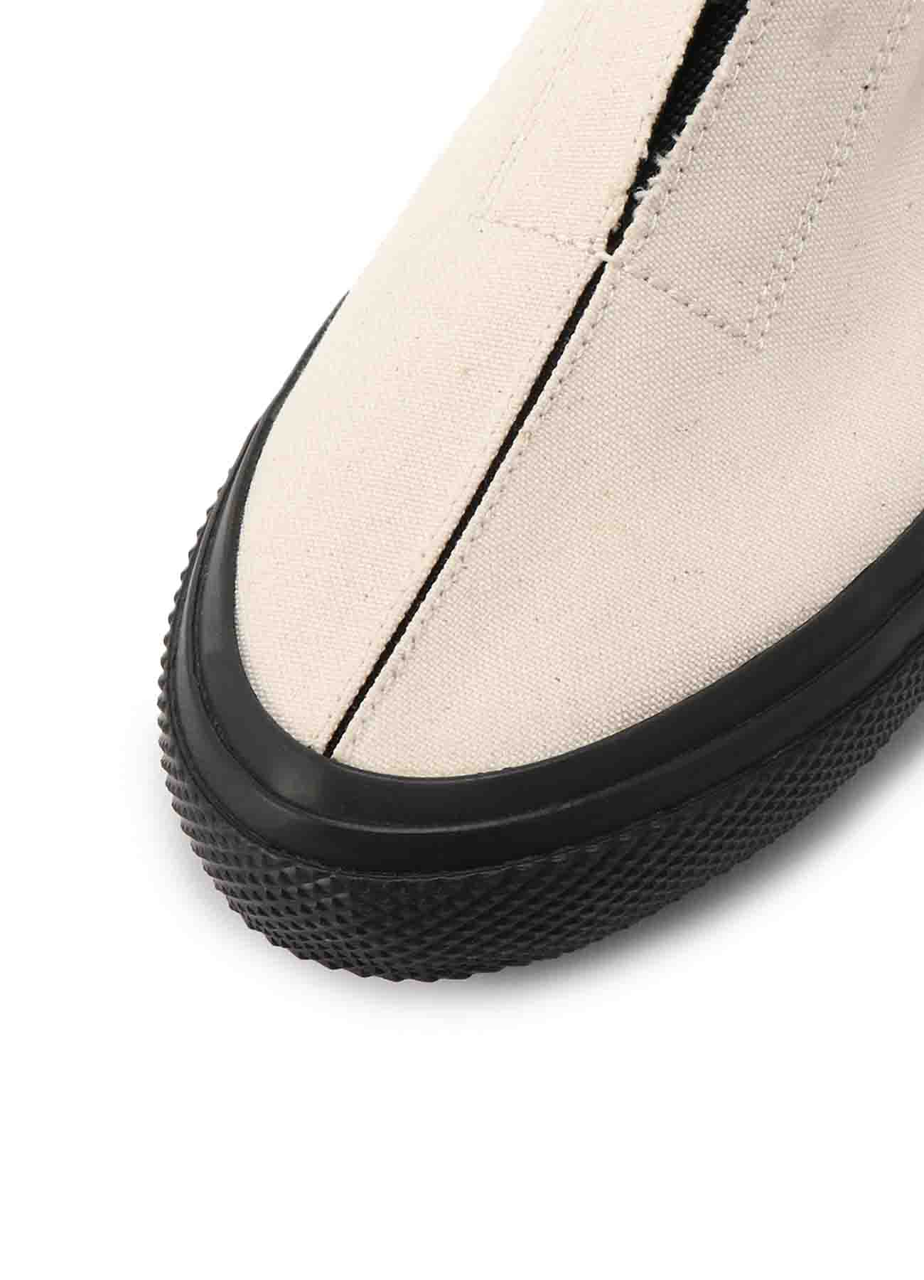 NO. 9 C/CANVAS GORE SLIP-ON SNEAKERS